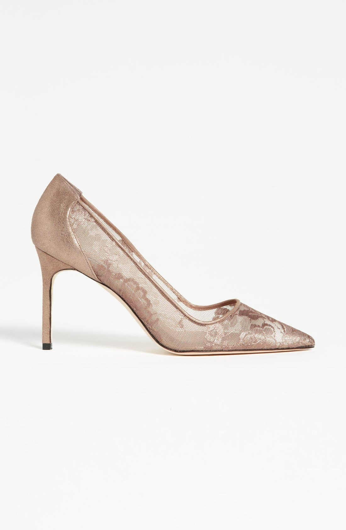 Alternate Image 4  - Manolo Blahnik Lace Pump