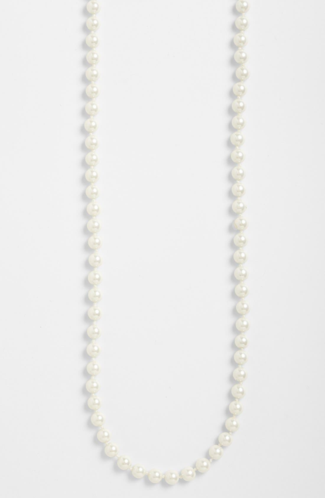 Alternate Image 3  - Lauren Ralph Lauren Long Glass Pearl Rope Necklace