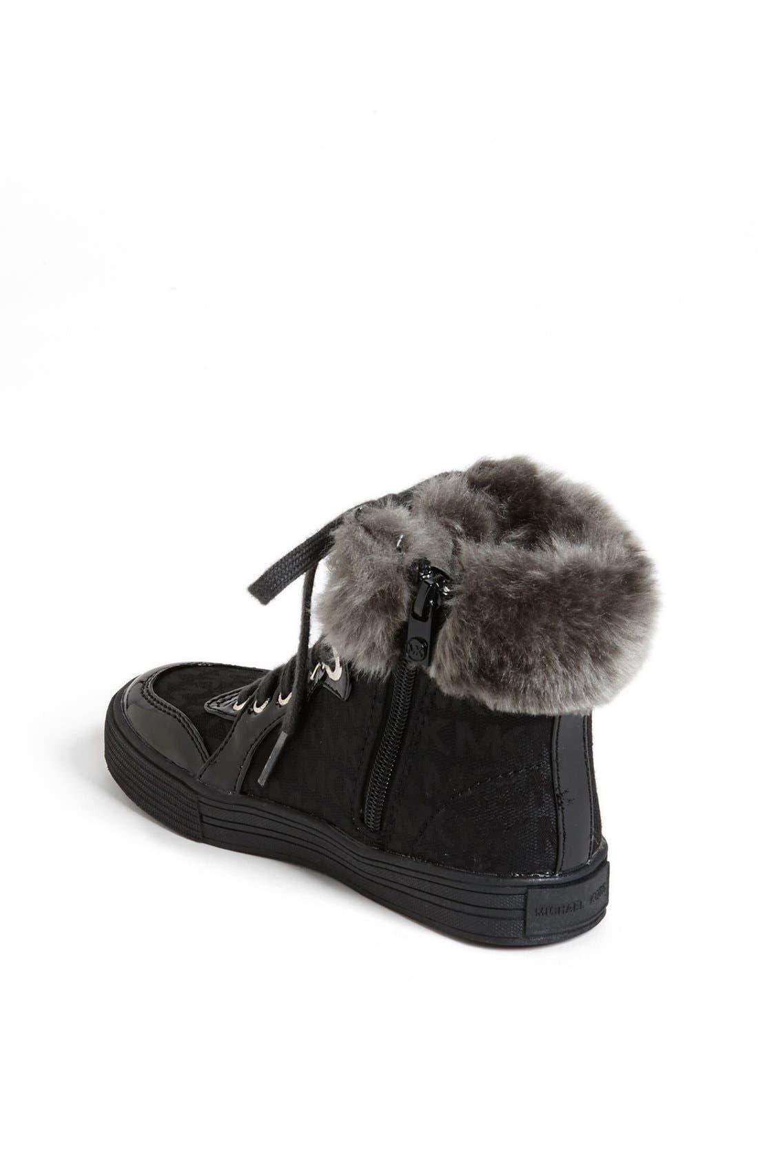 Alternate Image 2  - MICHAEL Michael Kors 'Ivy' Faux Fur High Top Sneaker (Little Kid)