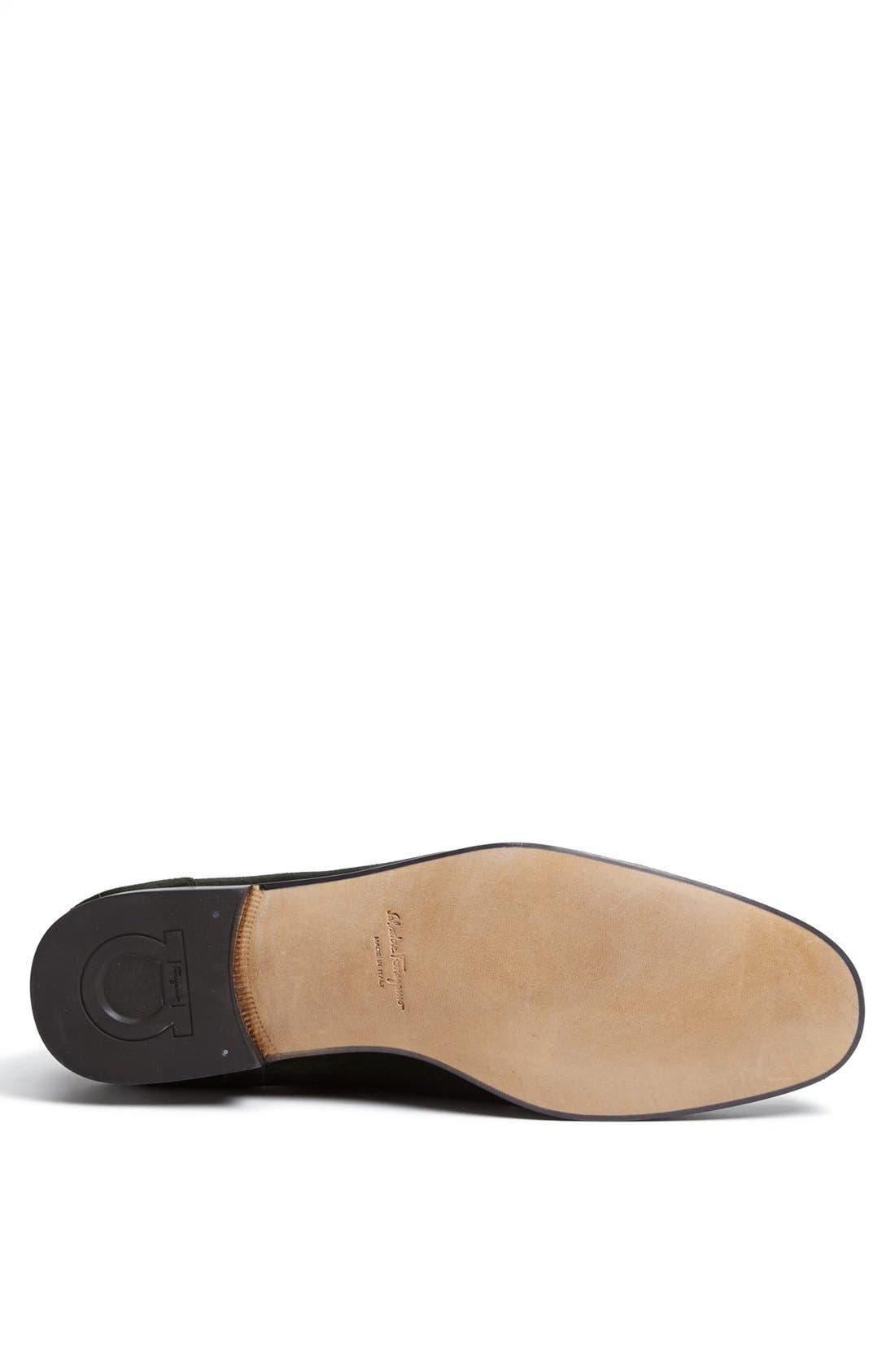 Alternate Image 4  - Salvatore Ferragamo 'Tapas' Suede Bit Loafer