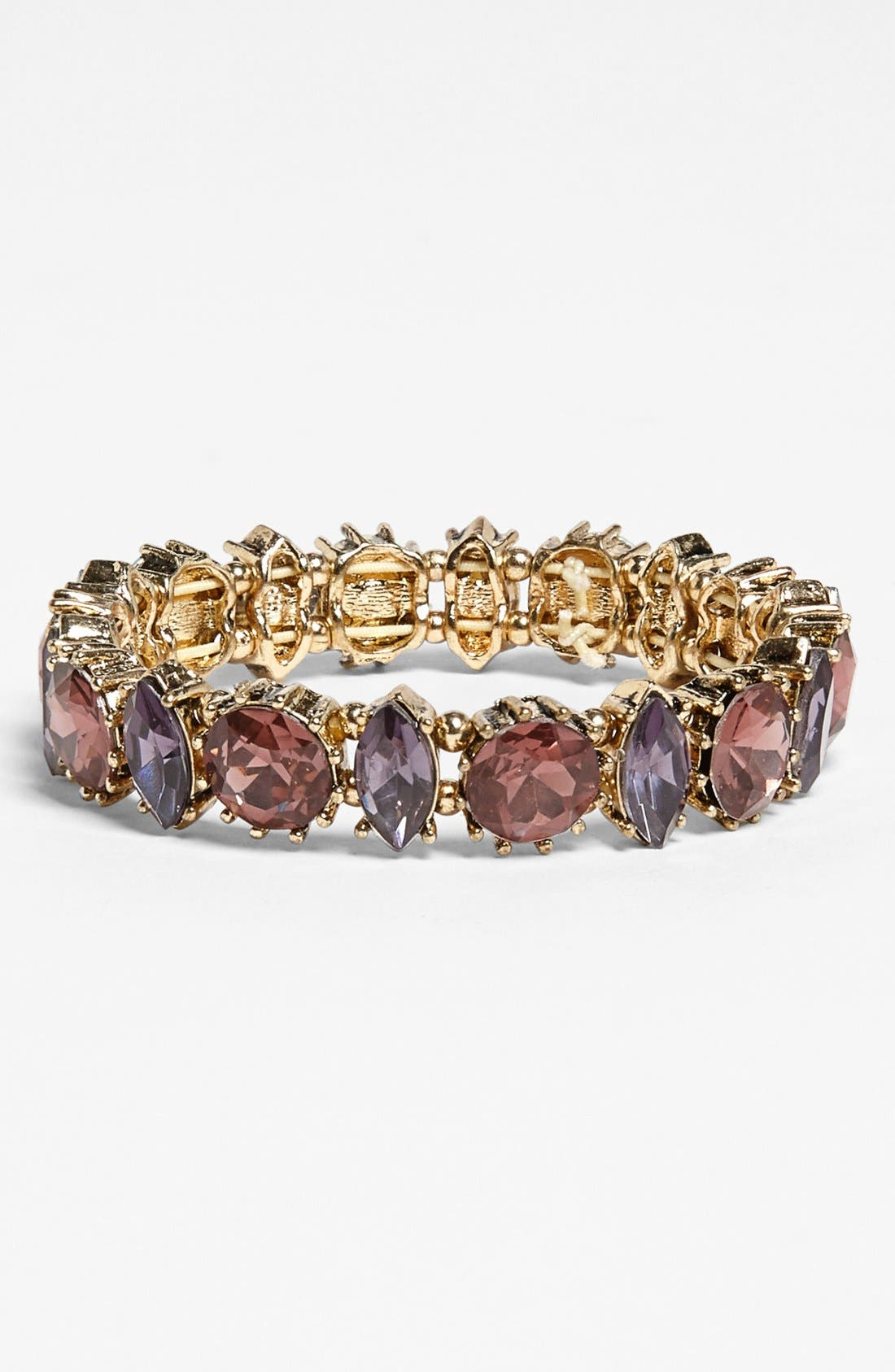 Alternate Image 1 Selected - Anne Klein Stone Stretch Bracelet