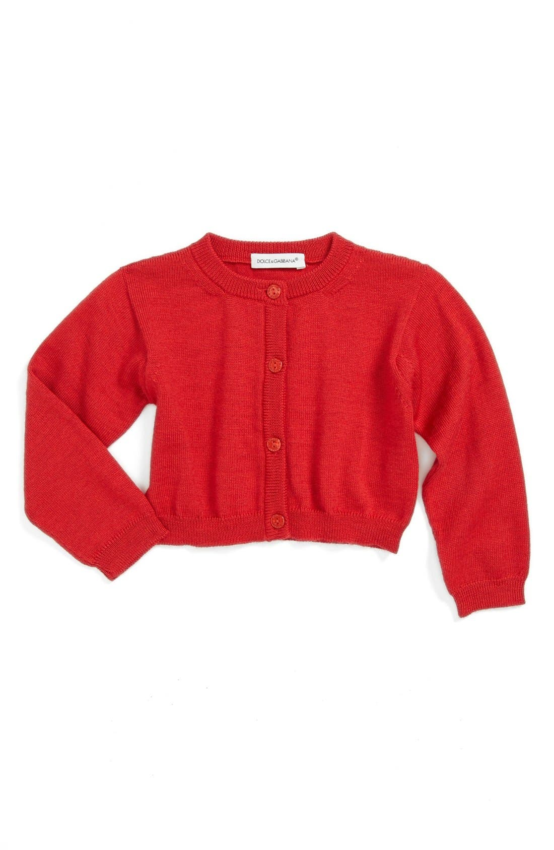 Main Image - Dolce&Gabanna Wool Cardigan (Baby Girls)