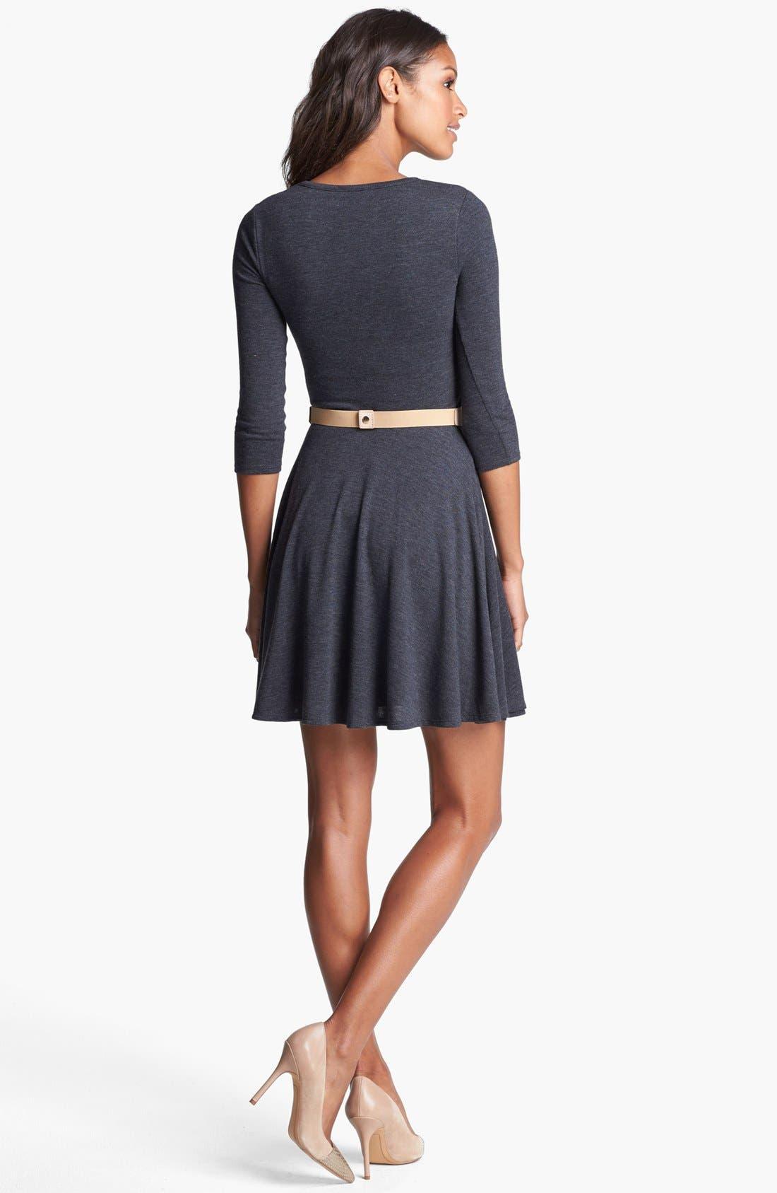 Alternate Image 2  - Three Dots Fit & Flare Sweater Dress