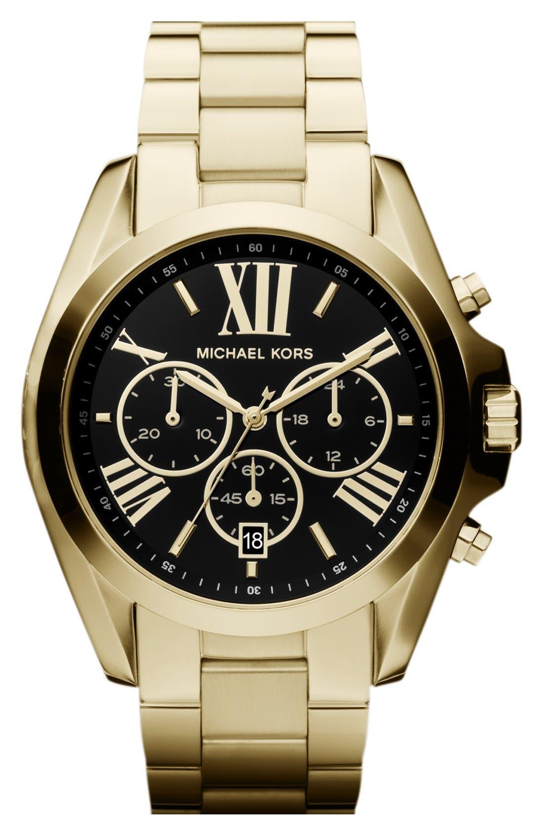 Bradshaw Chronograph Bracelet Watch, 43mm,                         Main,                         color, Gold/ Black