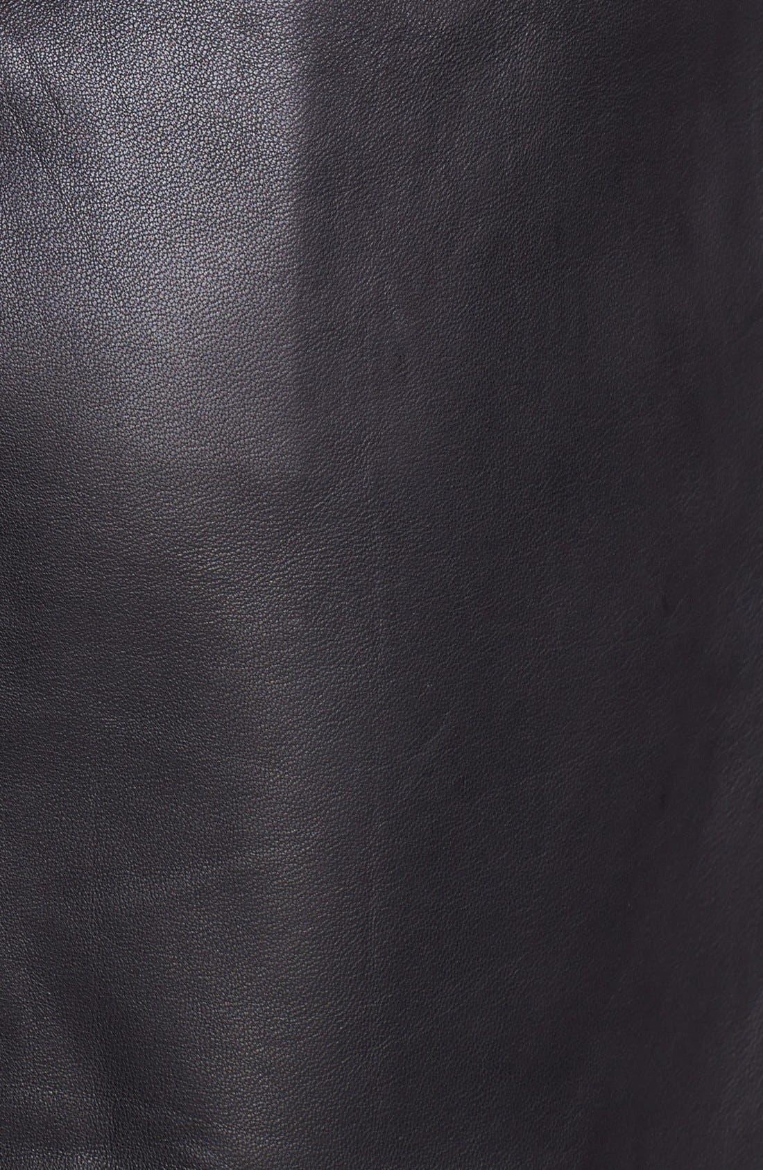Alternate Image 3  - Halogen® Colorblock Leather Faux Wrap Skirt