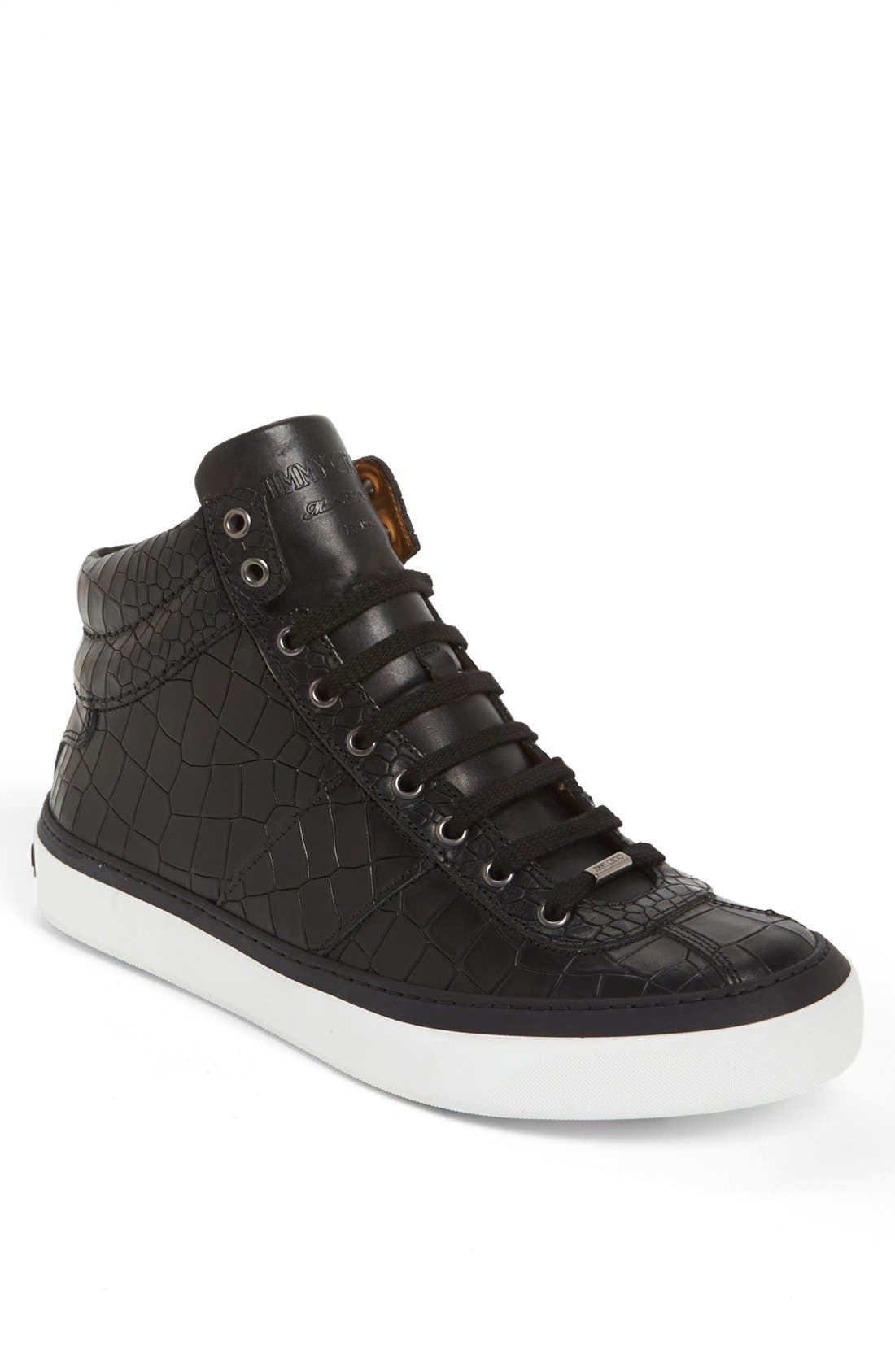 Belgravia High Top Sneaker,                             Main thumbnail 1, color,                             Black