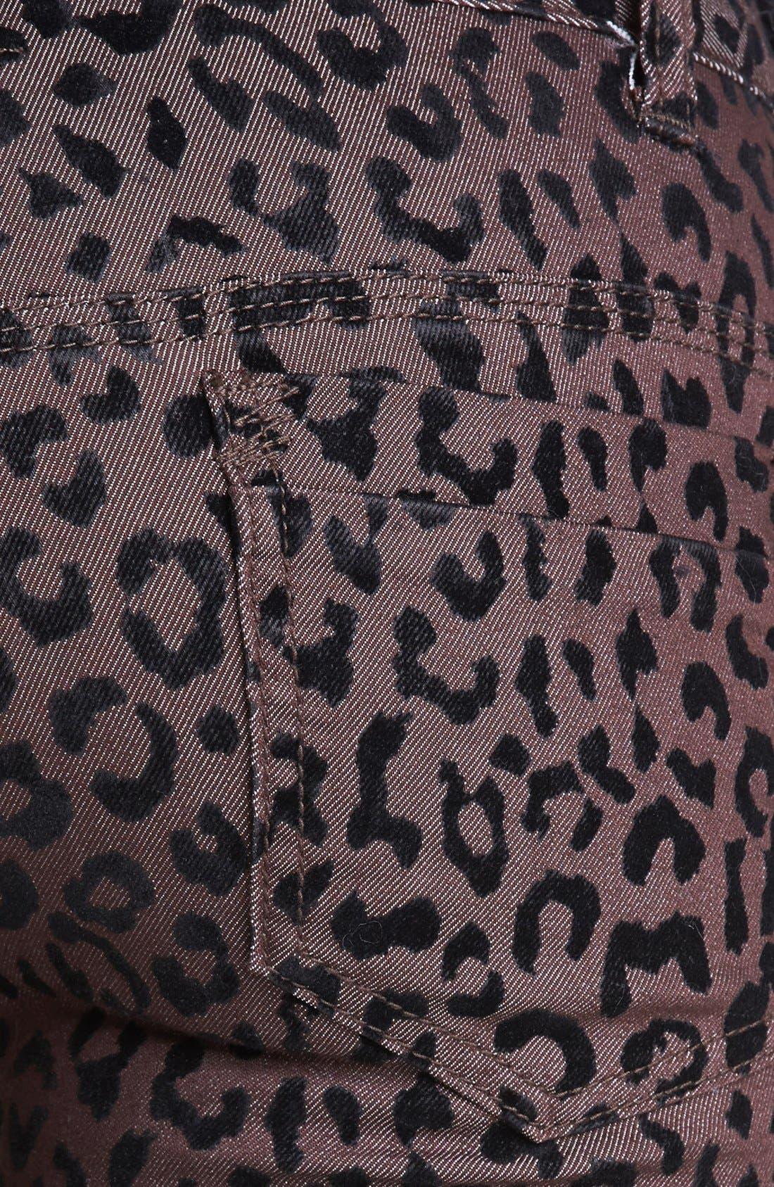 Alternate Image 3  - Free People Leopard Flocked Ankle Pants