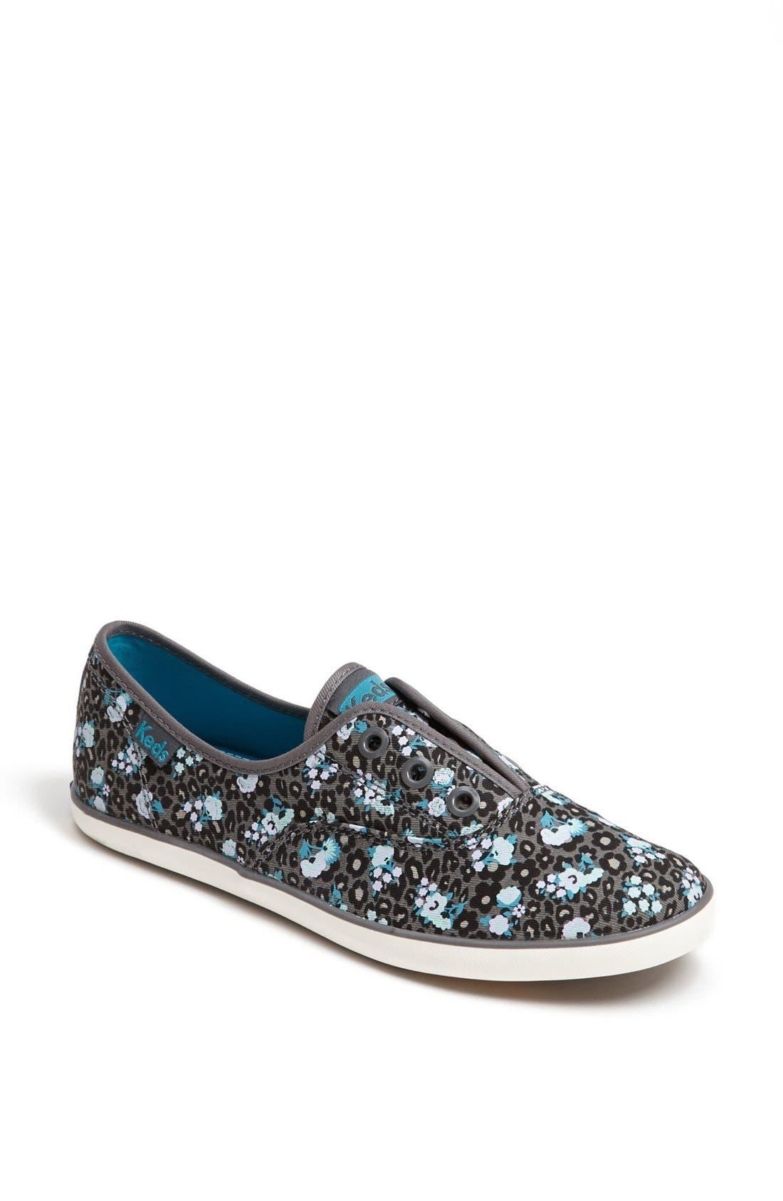 Alternate Image 1 Selected - Keds® 'Rookie - Leopard Floral' Laceless Sneaker (Women)