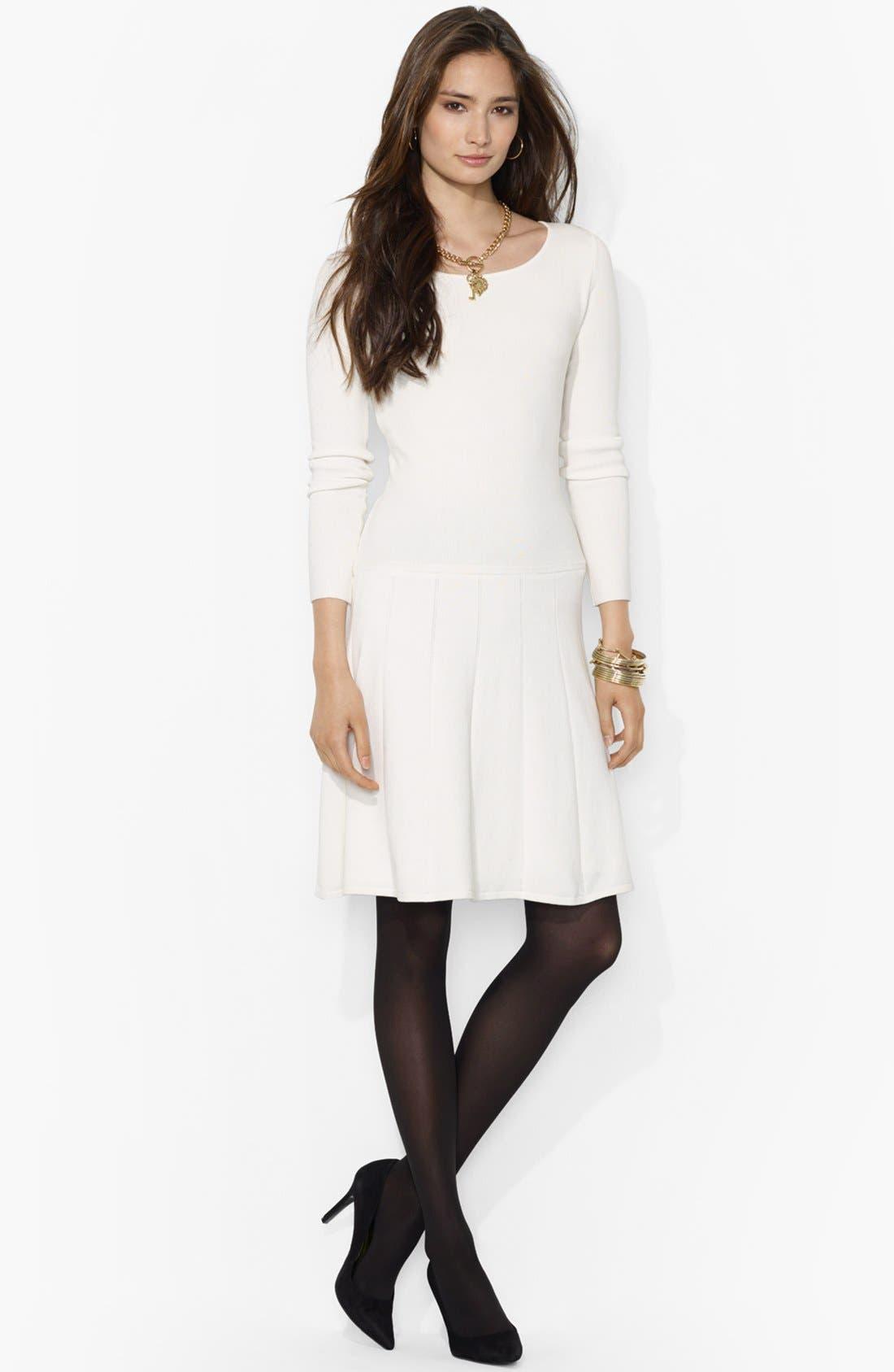 Main Image - Lauren Ralph Lauren Fit & Flare Sweater Dress