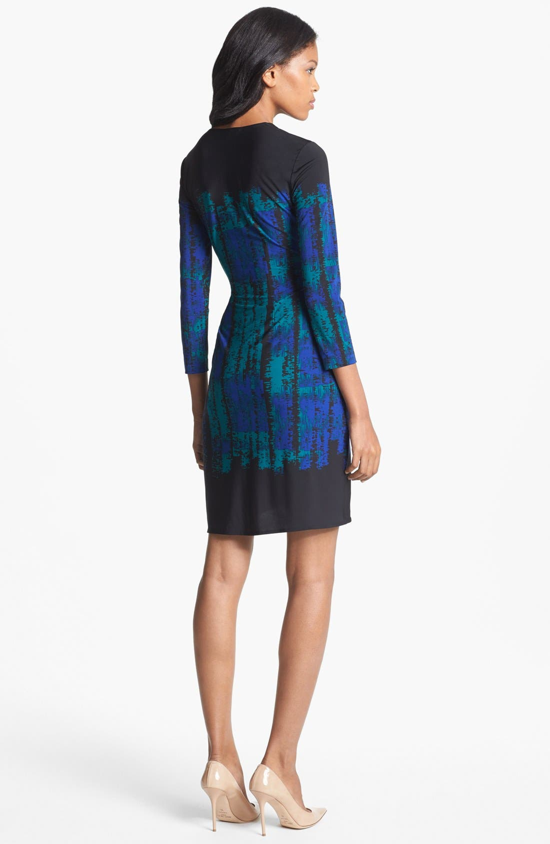 Alternate Image 2  - BCBGMAXAZRIA 'Adele' Print Jersey Wrap Dress