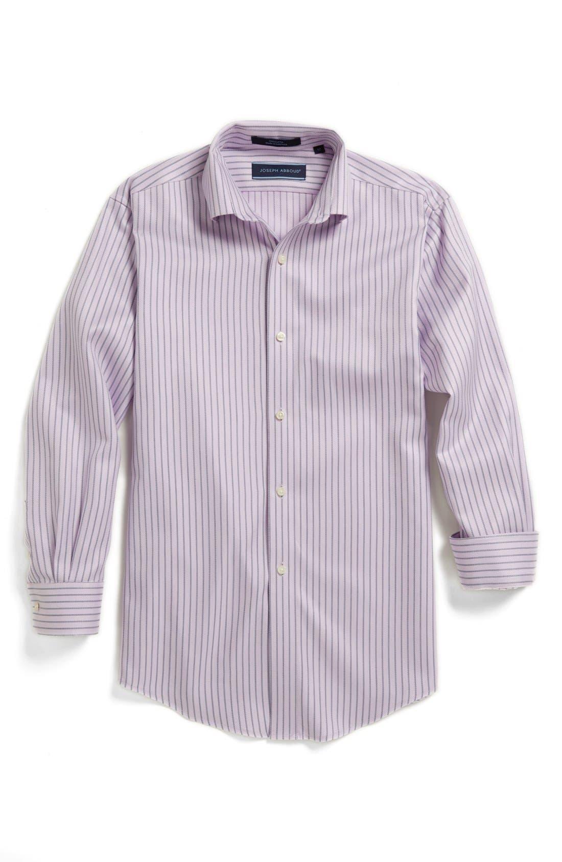 Alternate Image 1 Selected - Joseph Abboud Stripe Dress Shirt (Big Boys)