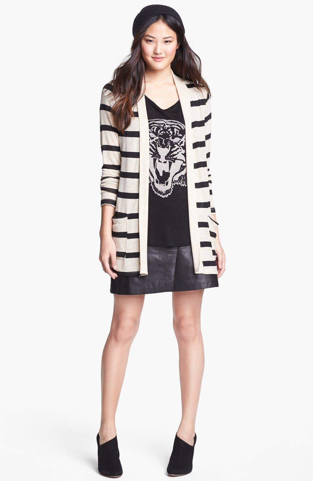 Alternate Image 5  - Halogen® Colorblock Leather Faux Wrap Skirt