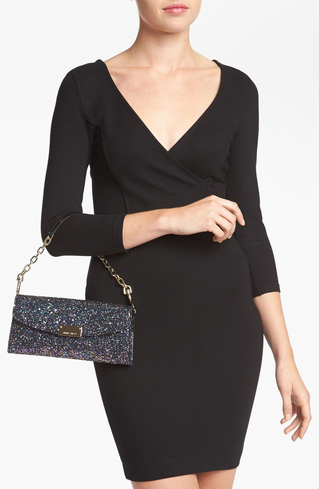 Alternate Image 2  - Jimmy Choo 'Riane' Glitter Clutch