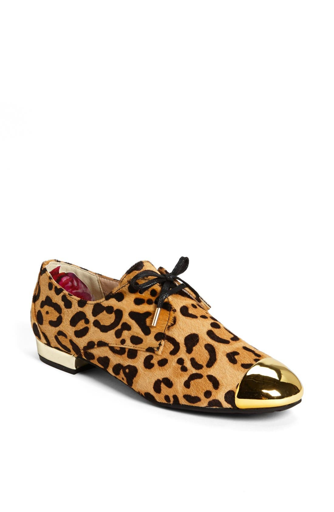 Alternate Image 1 Selected - Ted Baker London 'Kape 2' Genuine Calf Hair Flat