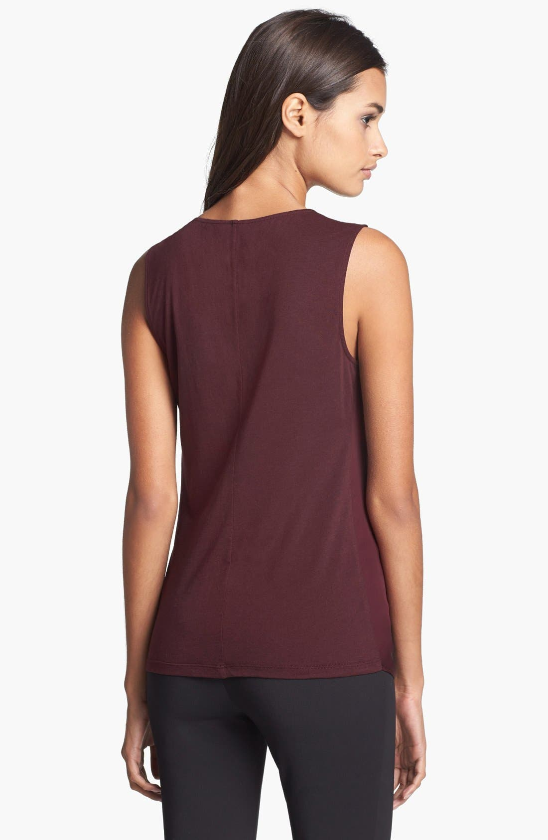 Alternate Image 2  - Theory 'Parlier' Silk & Stretch Cotton Blouse