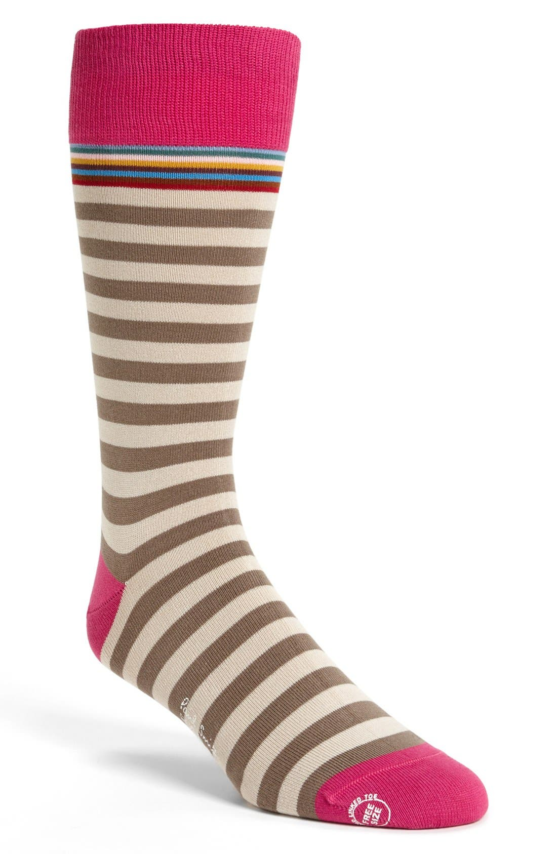 Alternate Image 1 Selected - Paul Smith Accessories Multi Stripe Socks