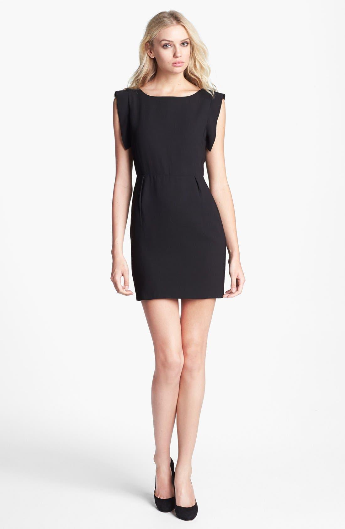 Alternate Image 1 Selected - Line & Dot V-Back Sheath Dress
