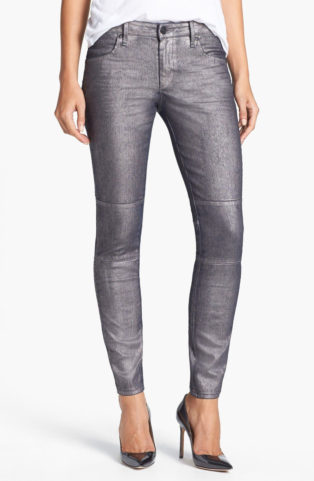 Alternate Image 1 Selected - MARC BY MARC JACOBS Seamed Cigarette Leg Jeans (Gunmetal)