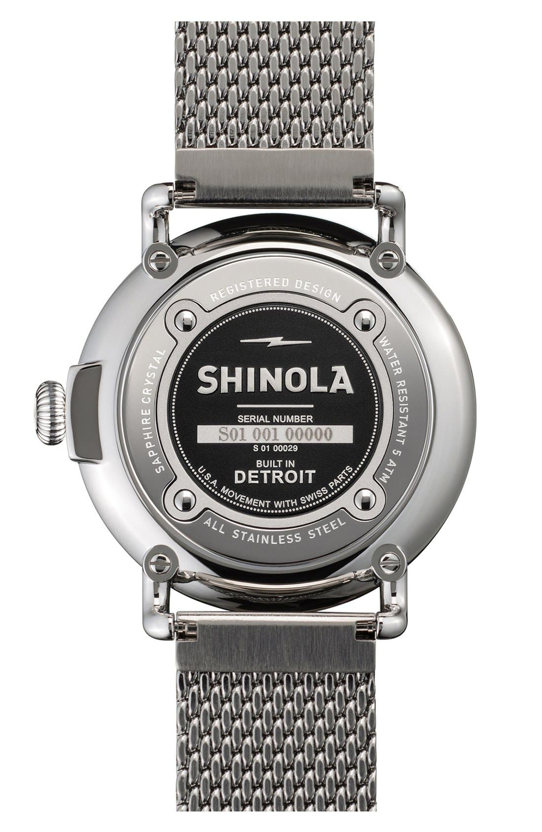 Alternate Image 2  - Shinola 'The Runwell' Mesh Band Watch, 41mm