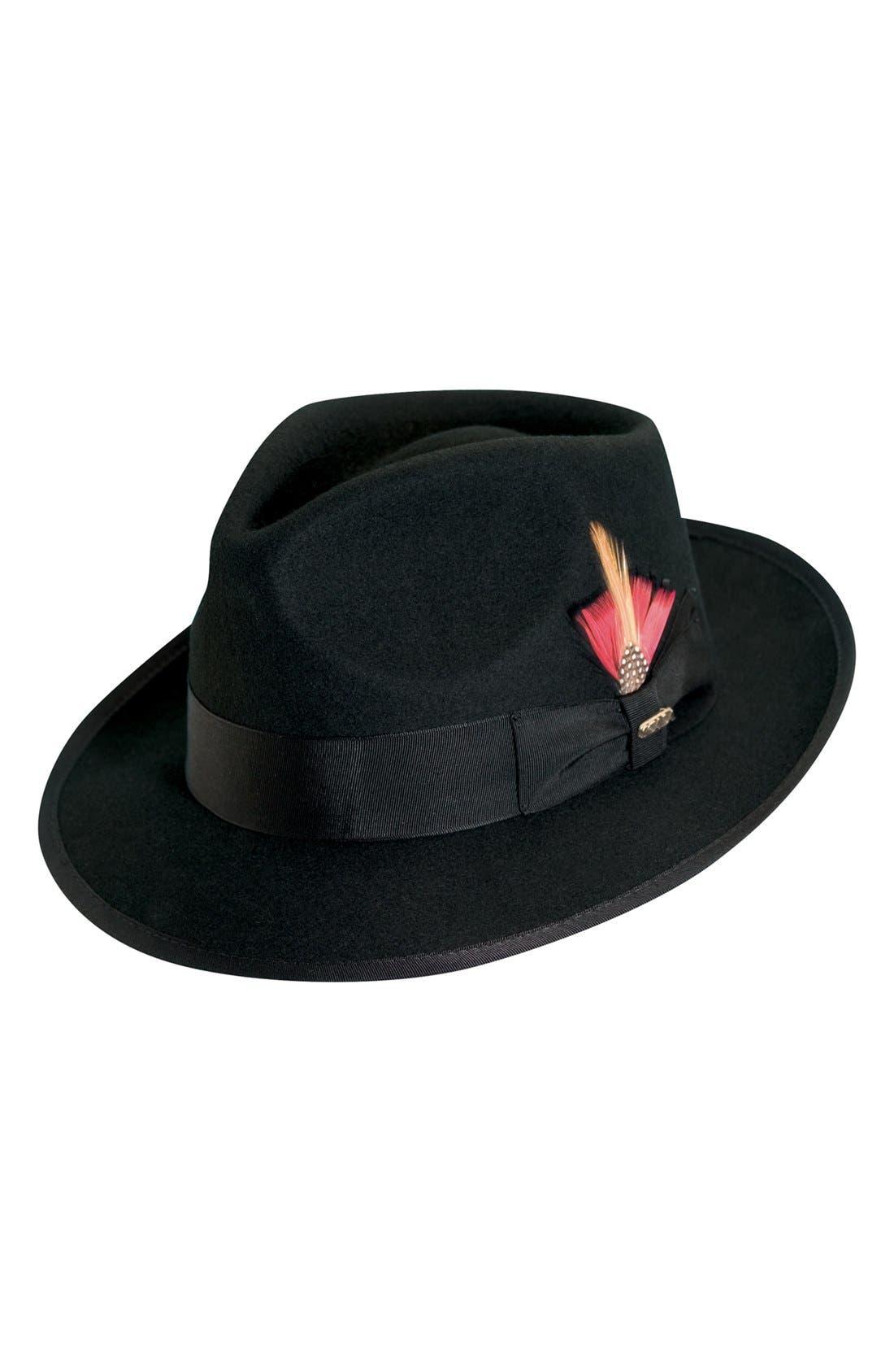 SCALA Classico Wool Felt Snap Brim Hat
