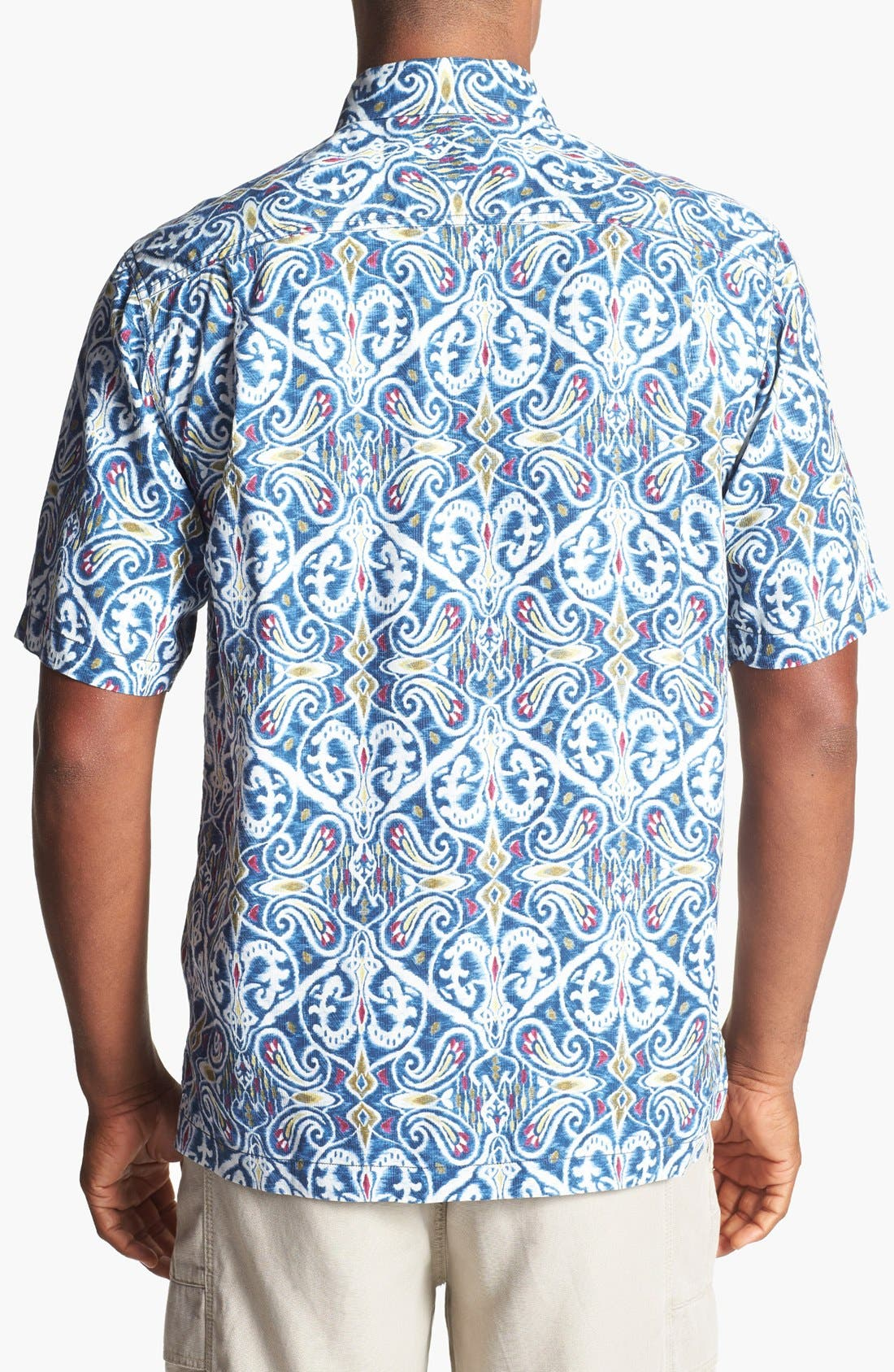 Alternate Image 2  - Tommy Bahama 'Aziza' Ikat Silk Campshirt