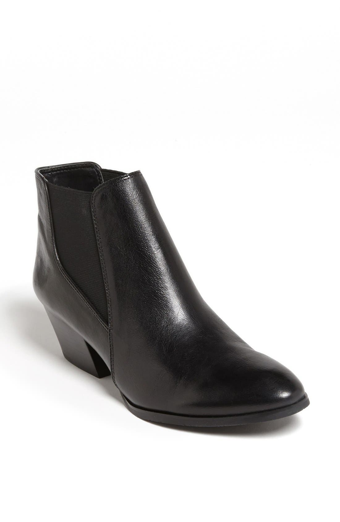 'Quinne' Boot,                         Main,                         color, Black Leather