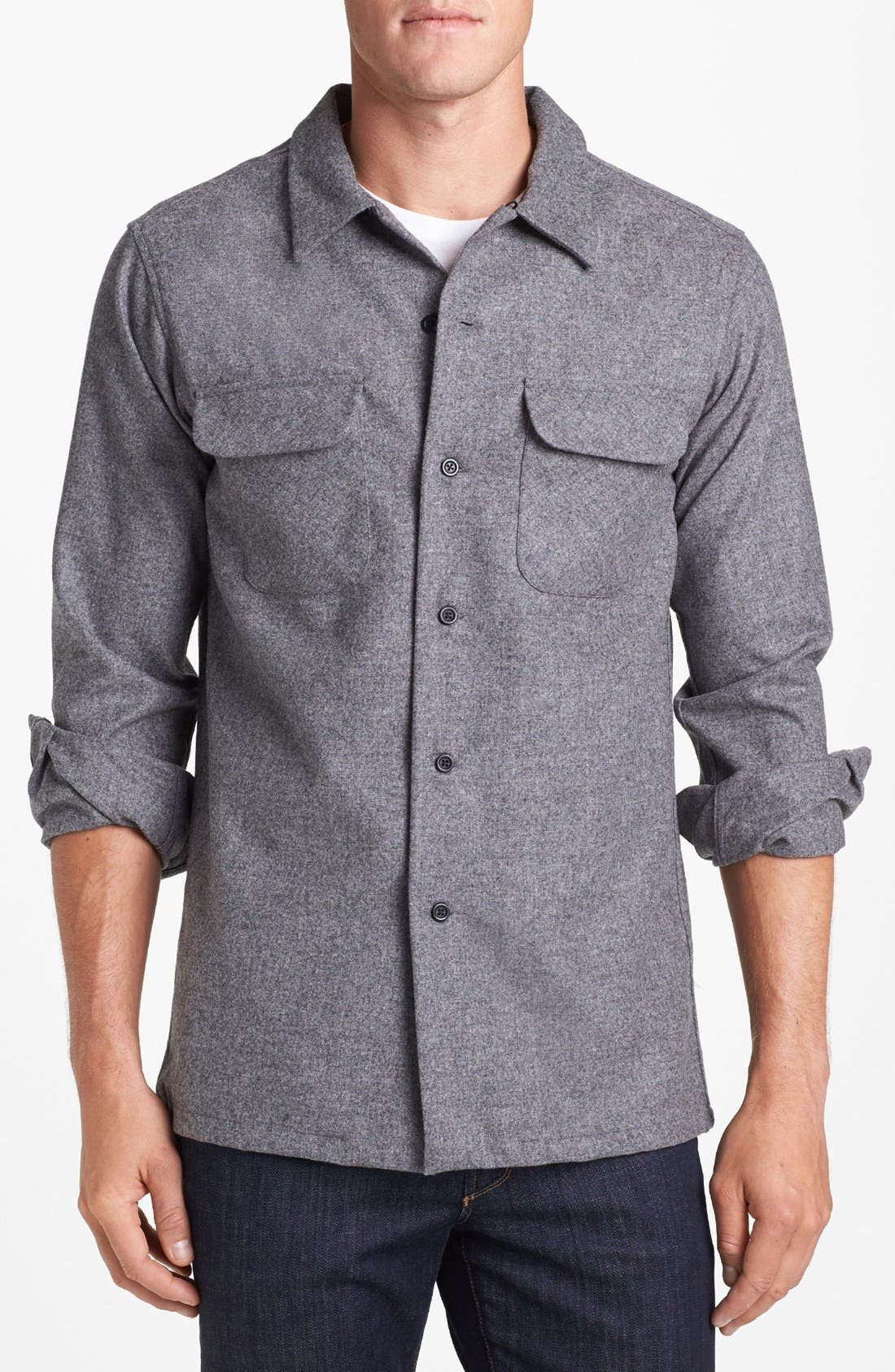 Main Image - Pendleton 'Board' Fitted Wool Flannel Shirt