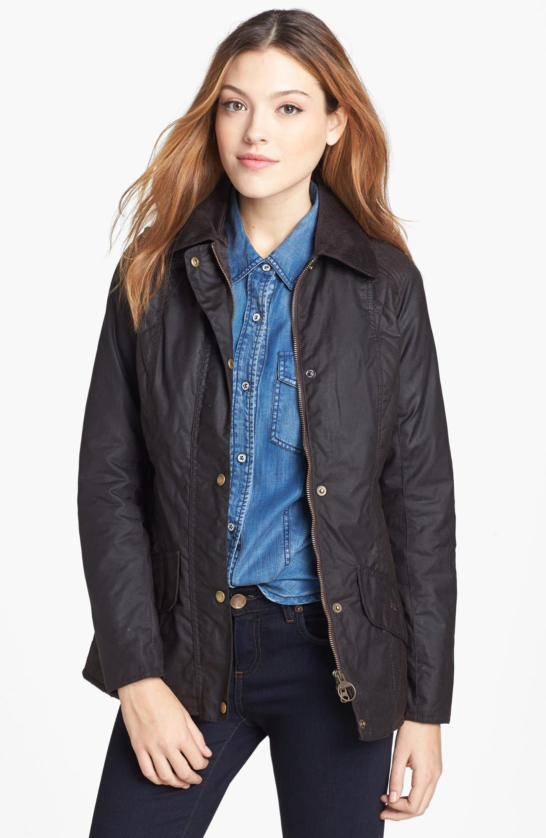 Alternate Image 1 Selected - Barbour 'Sapey' Waxed Cotton Jacket