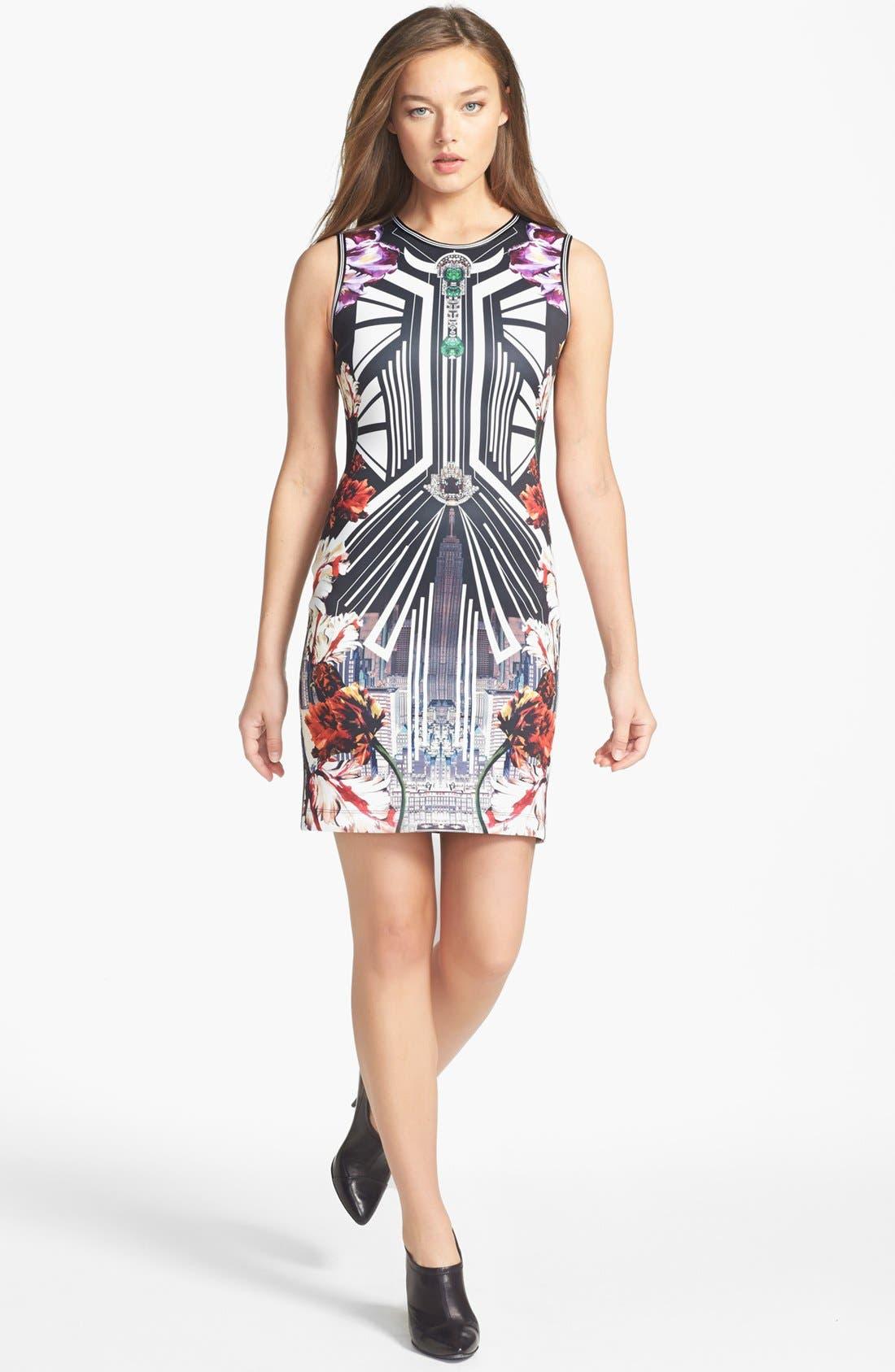 Main Image - Clover Canyon 'Deco City' Stretch Sheath Dress