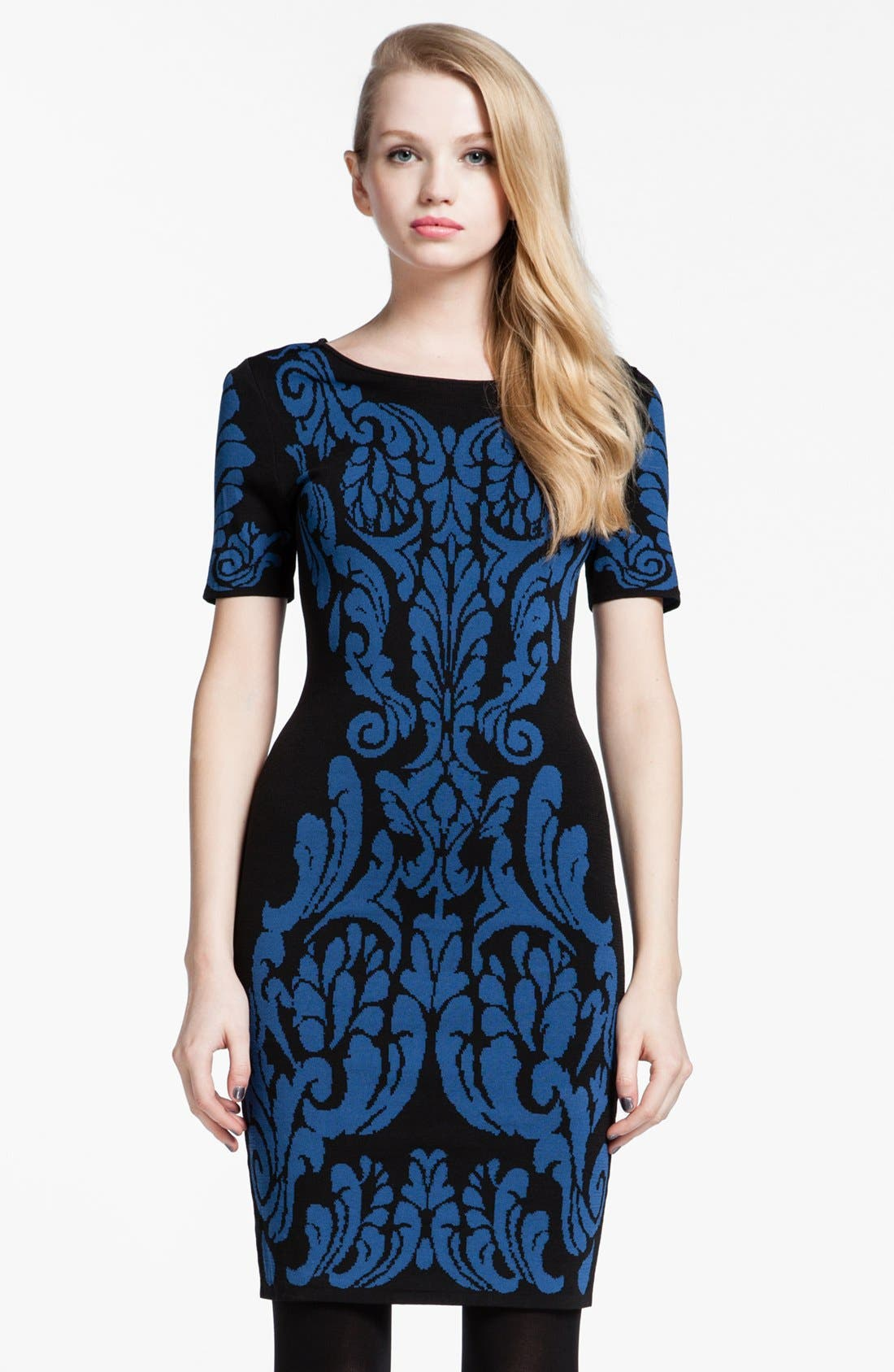 Alternate Image 1 Selected - Cynthia Steffe 'Briella' Patterned Sweater Dress