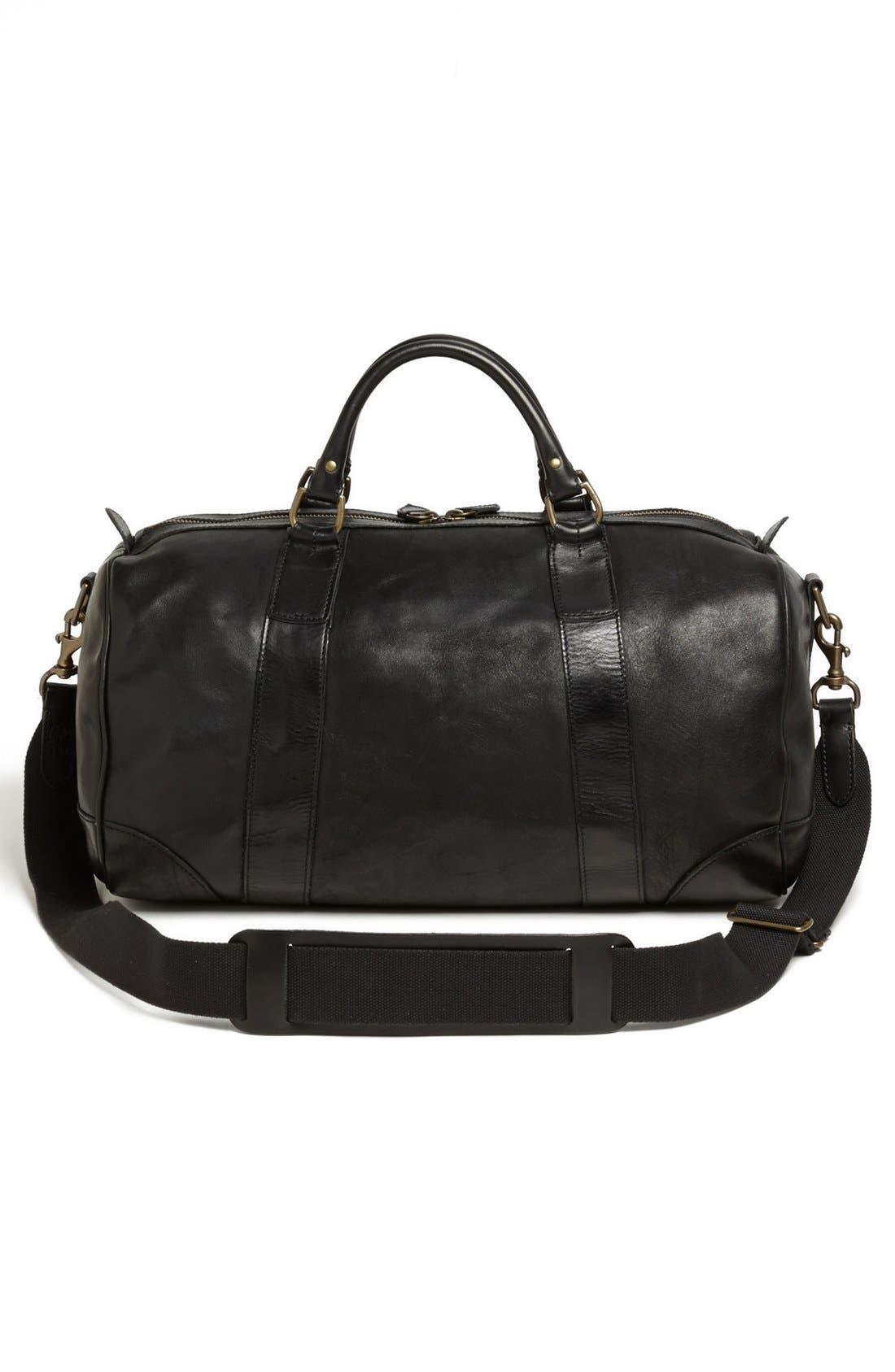 Alternate Image 3  - Polo Ralph Lauren Leather Gym Bag