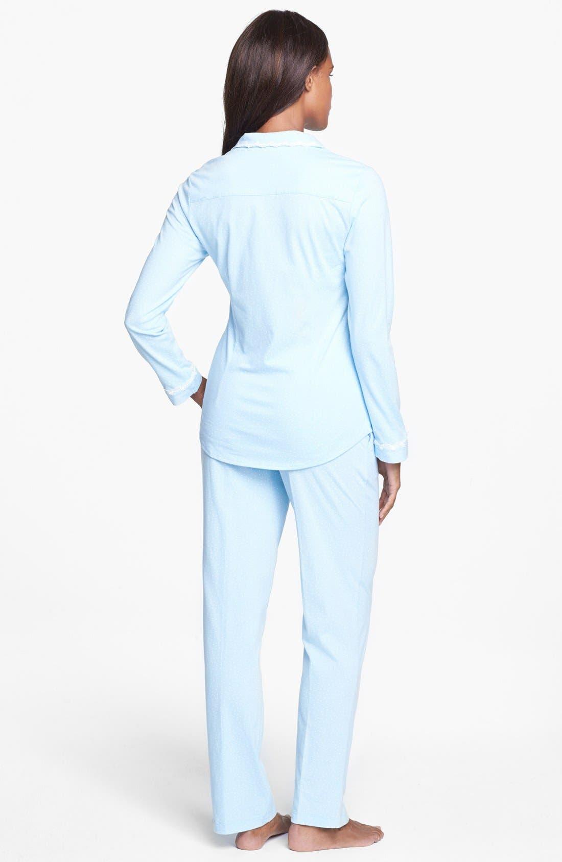 'Buona Notte' Pajamas,                             Alternate thumbnail 2, color,                             Blue/ Winter White Dots