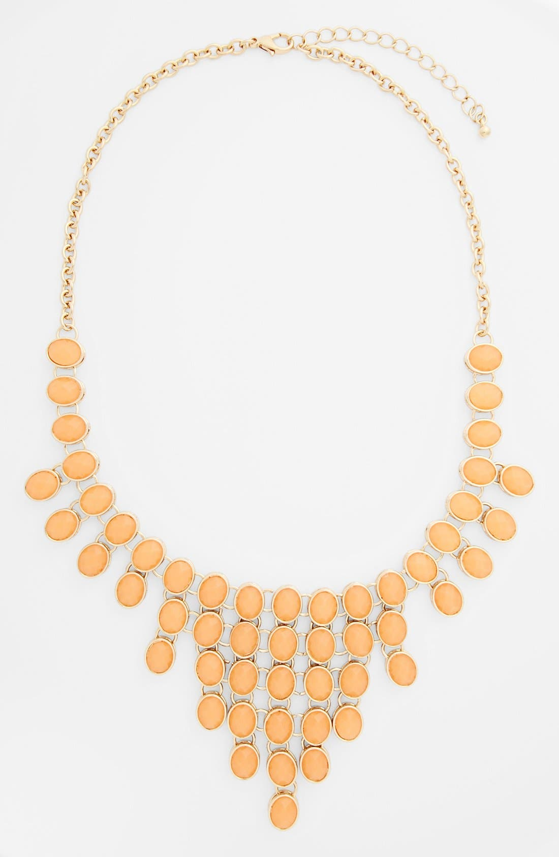 Main Image - BP. Oval Stone Statement Necklace (Juniors)