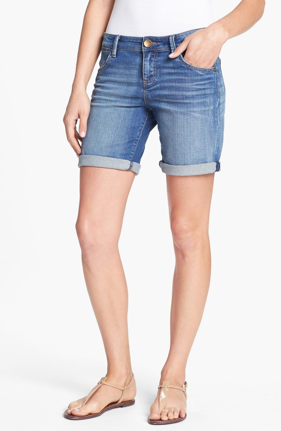 Alternate Image 1 Selected - KUT from the Kloth 'Catherine' Denim Boyfriend Shorts