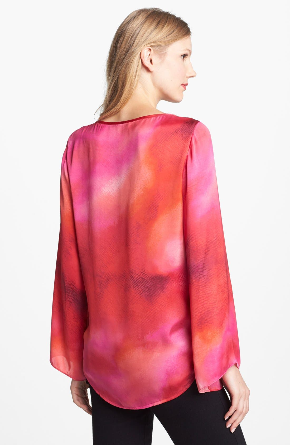 Alternate Image 2  - Vince Camuto Dappled High/Low Blouse