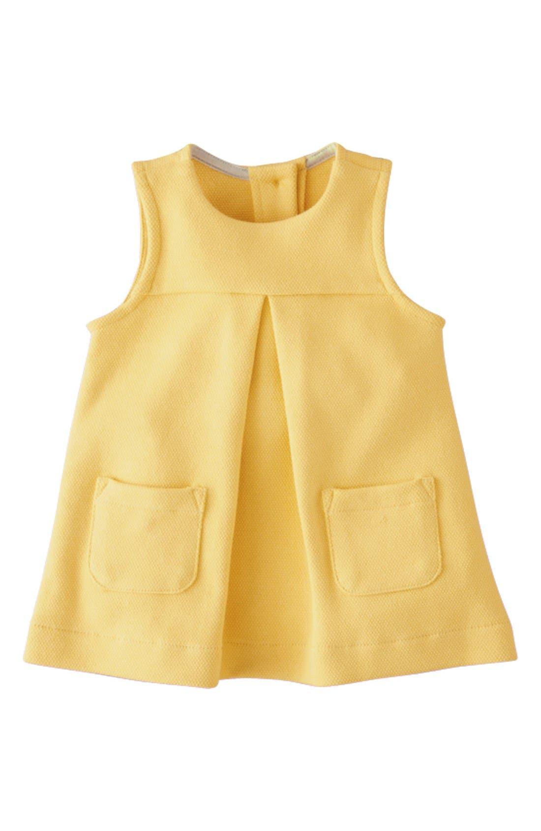 Main Image - Mini Boden Jersey Pinafore Dress (Baby Girls)