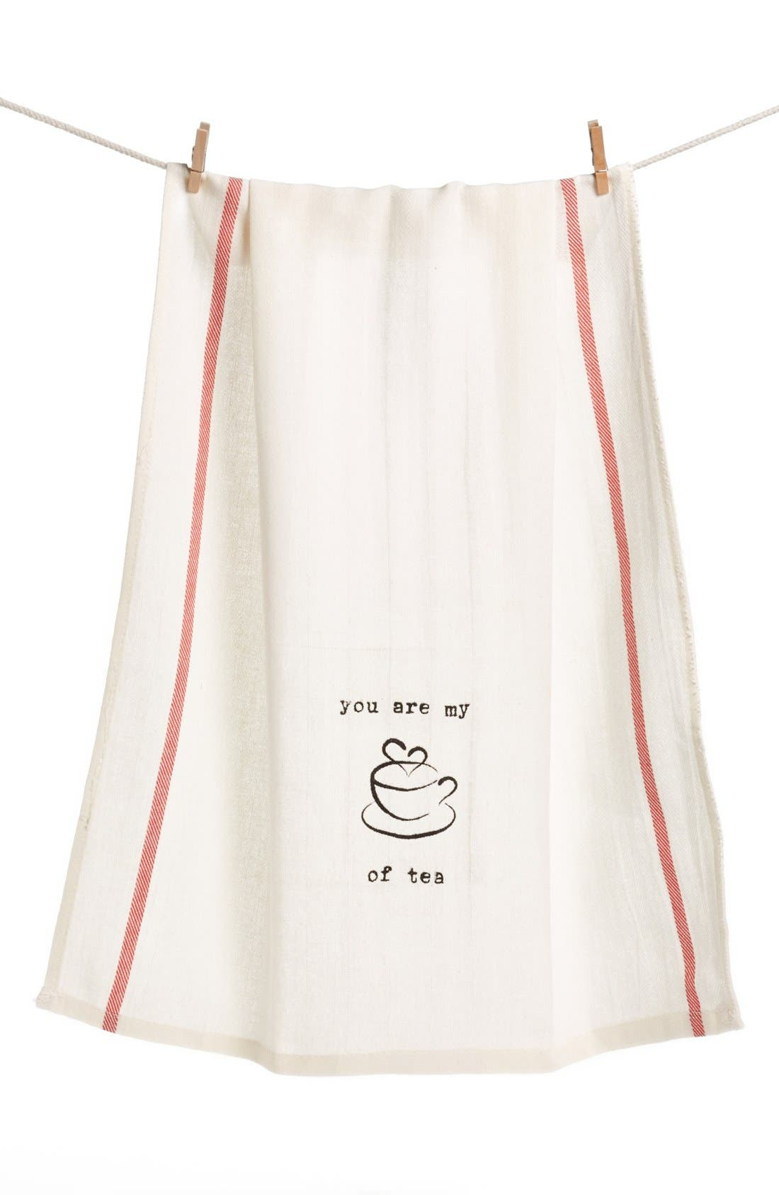 Alternate Image 1 Selected - Second Nature by Hand 'You Are My Cup of Tea' Dish Towel