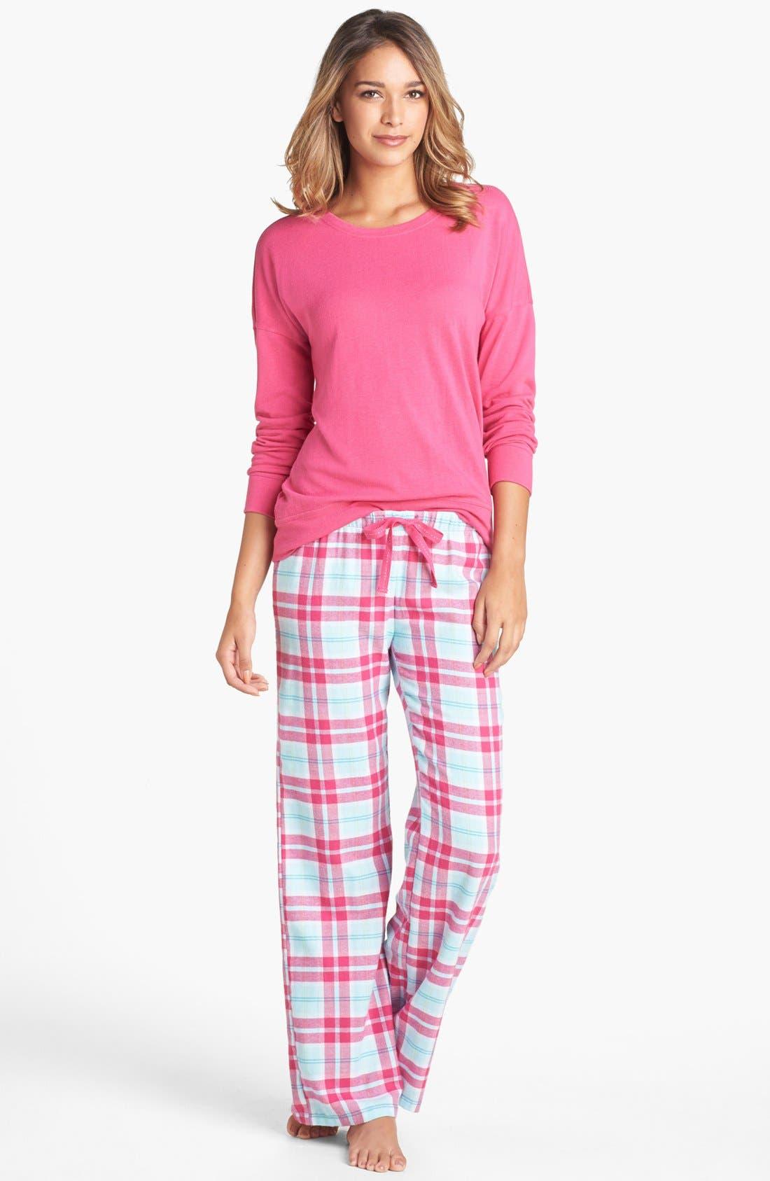 Alternate Image 3  - Make + Model Flannel Pants