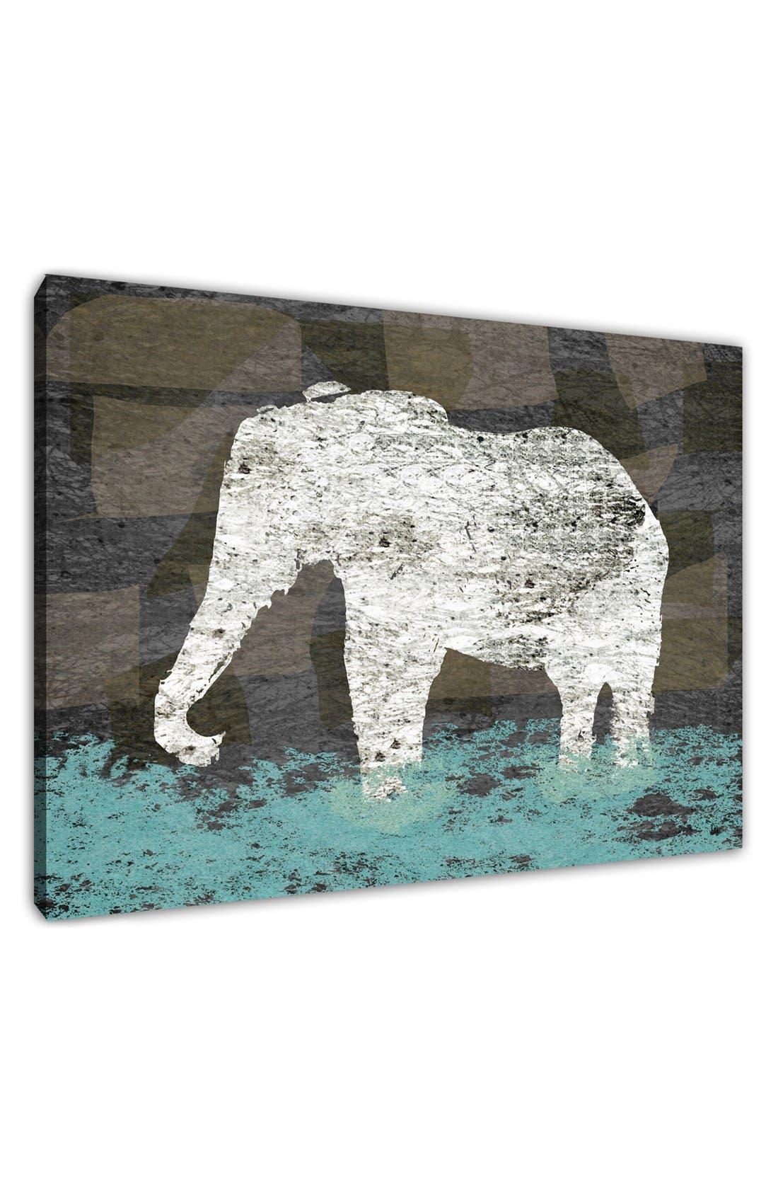 Alternate Image 2  - Green Leaf Art 'Vintage Elephant II' Wall Art