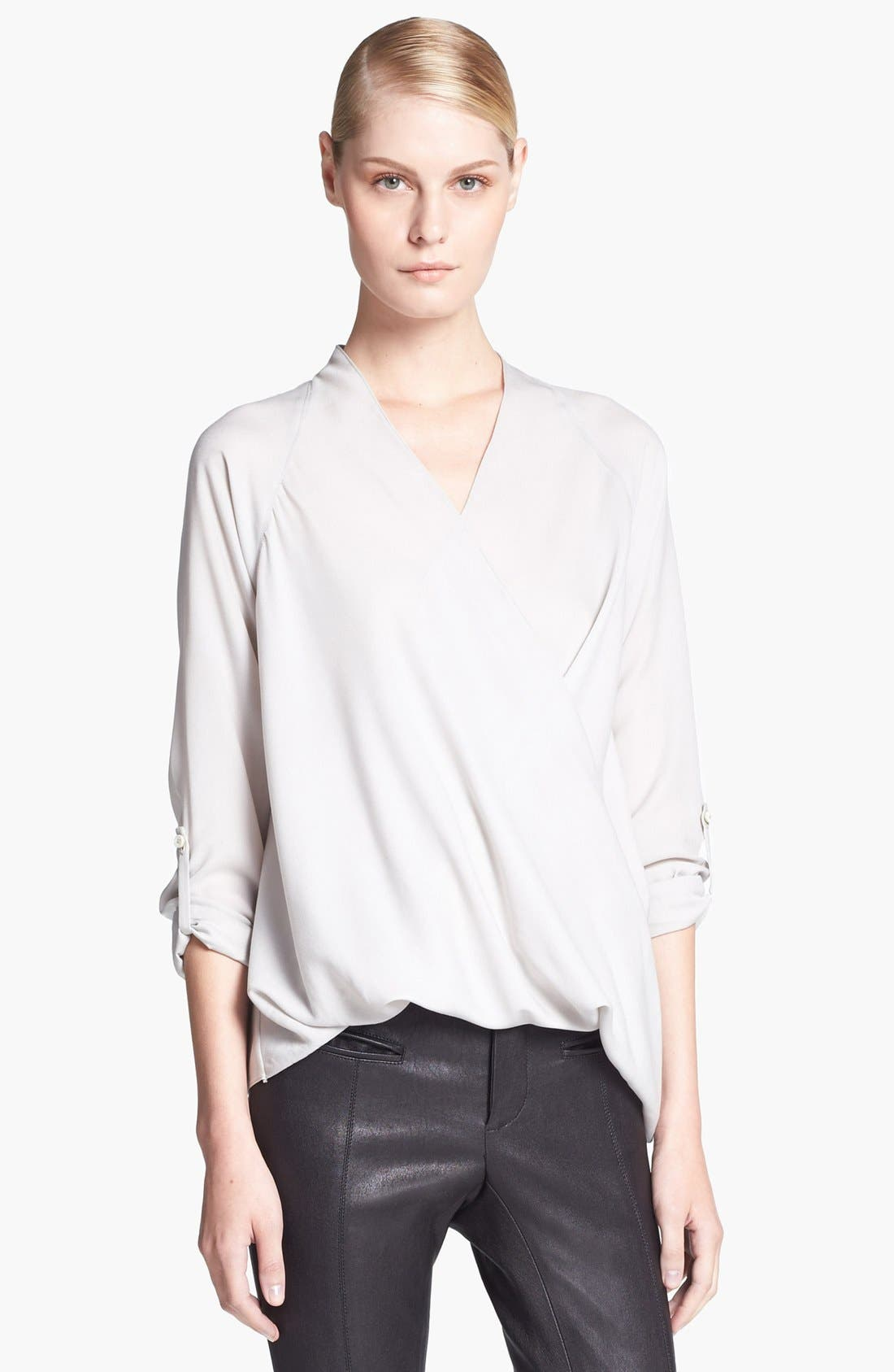 Alternate Image 1 Selected - Helmut Lang Blouse & Leather Pants