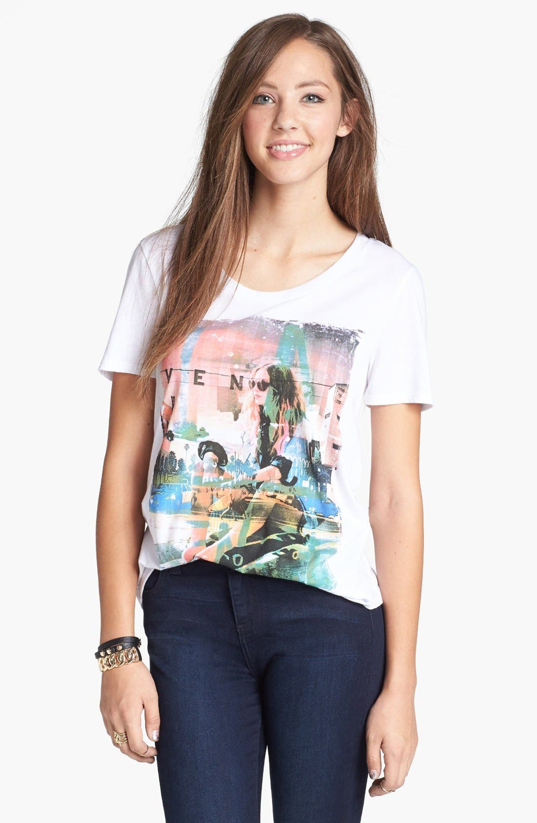 Alternate Image 1 Selected - Soprano 'Venice' Graphic Tee (Juniors)