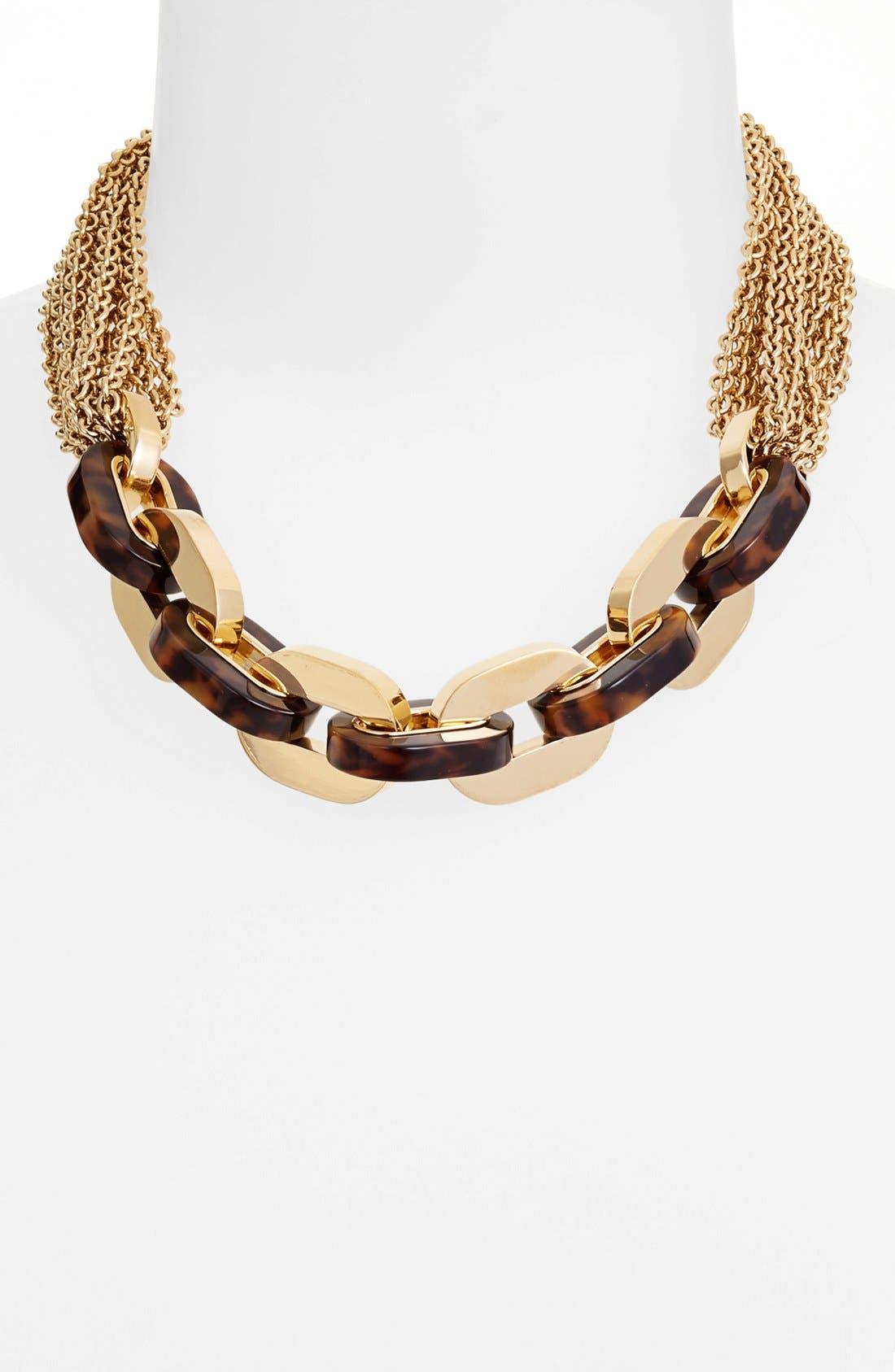 Alternate Image 1 Selected - Michael Kors 'Modernist Glitz' Multi Chain Toggle Necklace