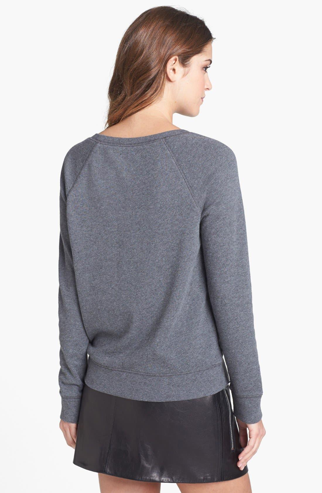 Alternate Image 2  - Halogen® Burnout Dot Sweatshirt