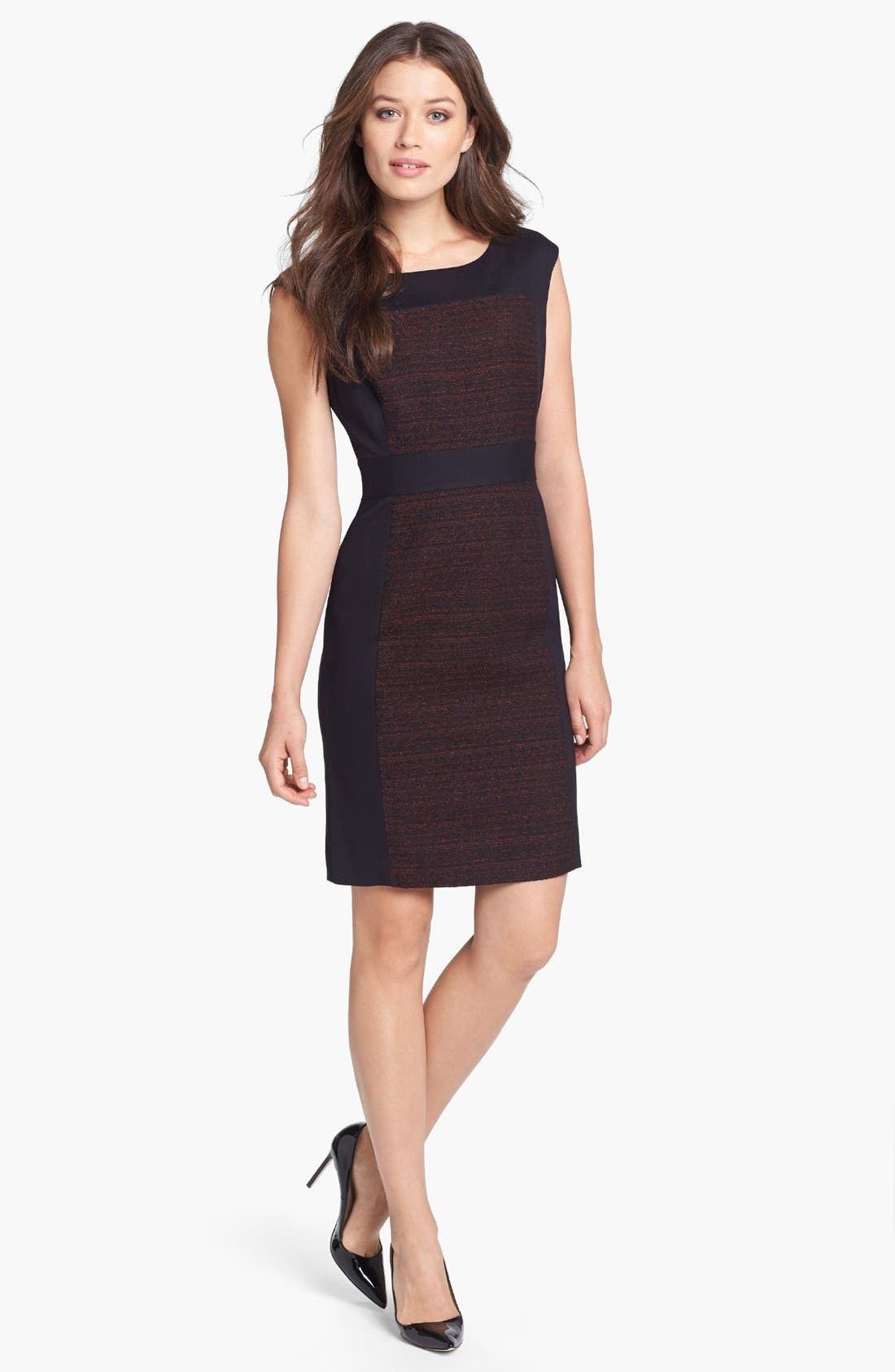 Alternate Image 1 Selected - Classiques Entier® 'Georgina Weave' Mixed Media Sheath Dress
