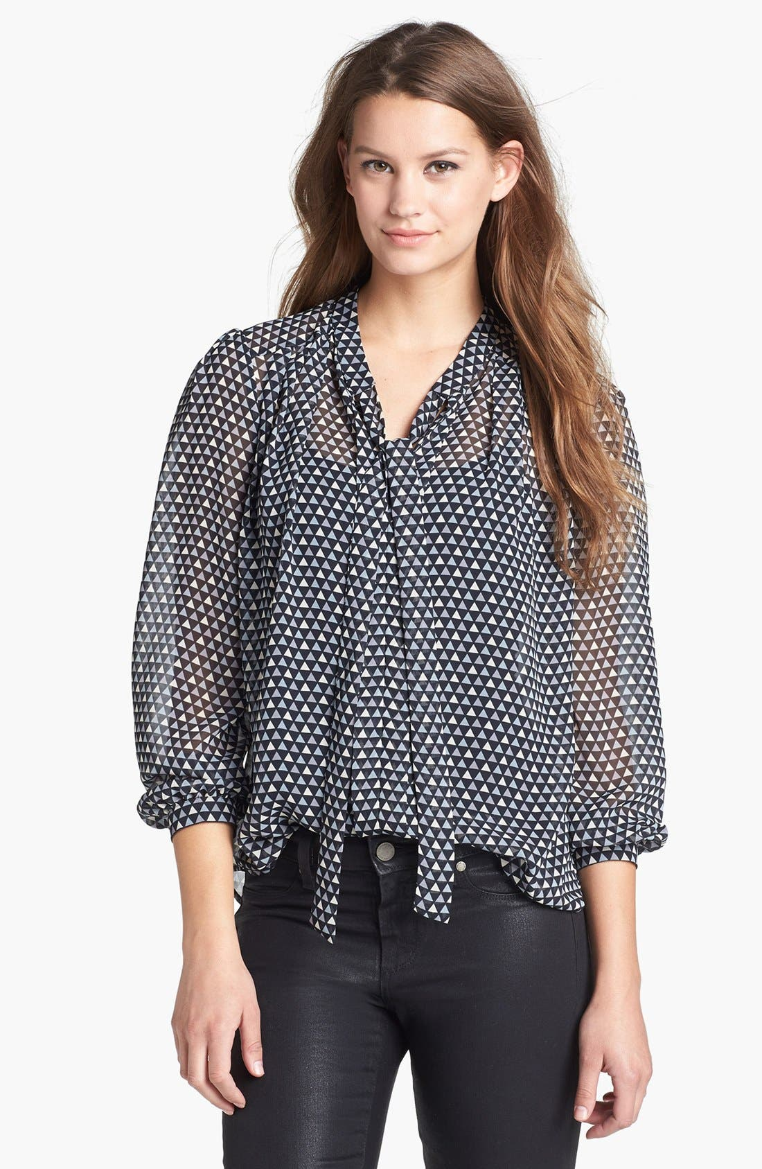 Alternate Image 1 Selected - Pleione Pleat Shoulder Blouse
