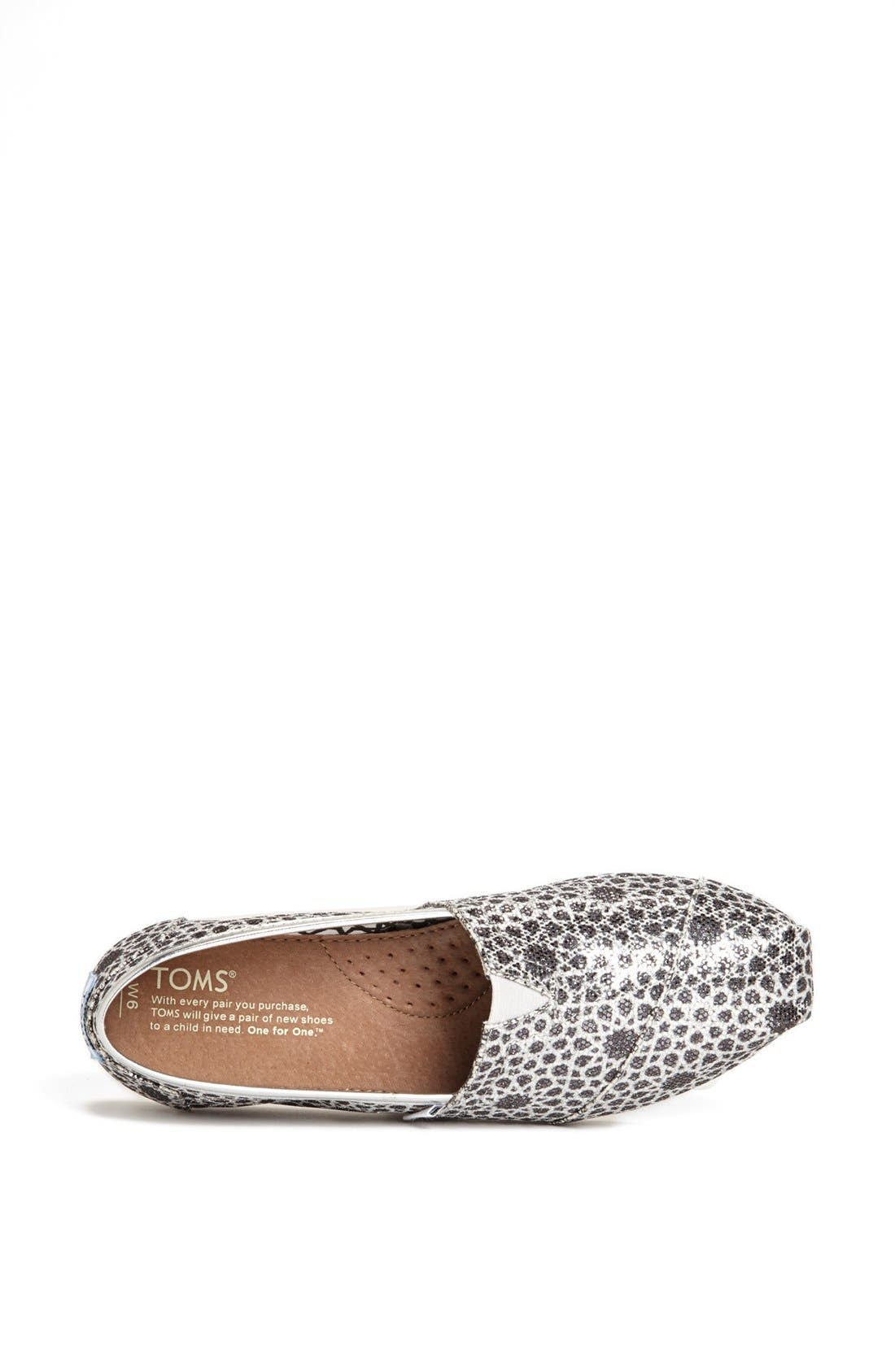 Alternate Image 3  - TOMS 'Seasonal Classic - Moroccan Glitter' Slip-On (Women)