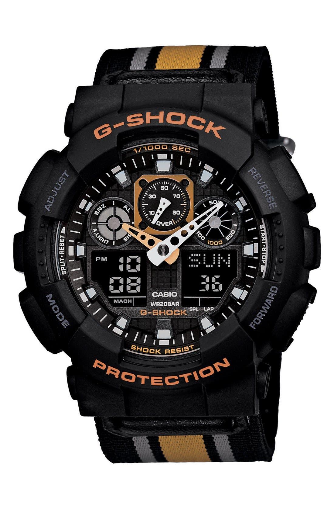 Alternate Image 1 Selected - G-Shock 'XL Ana-Digi' Nylon Strap Watch, 55mm