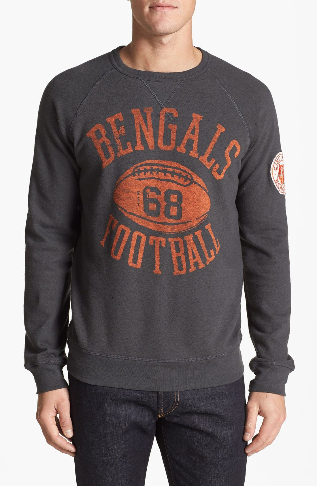 Alternate Image 1 Selected - Junk Food 'Cincinnati Bengals - Field Goal' Crewneck Sweatshirt