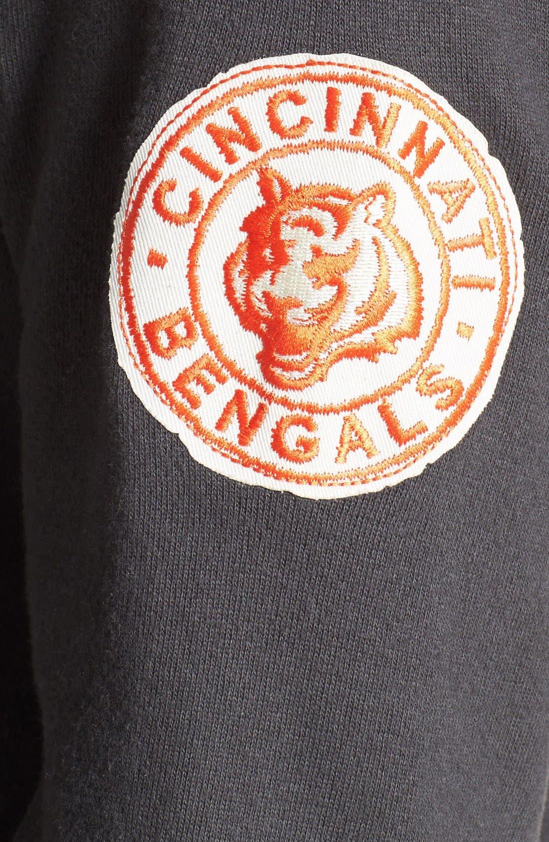 Alternate Image 3  - Junk Food 'Cincinnati Bengals - Field Goal' Crewneck Sweatshirt