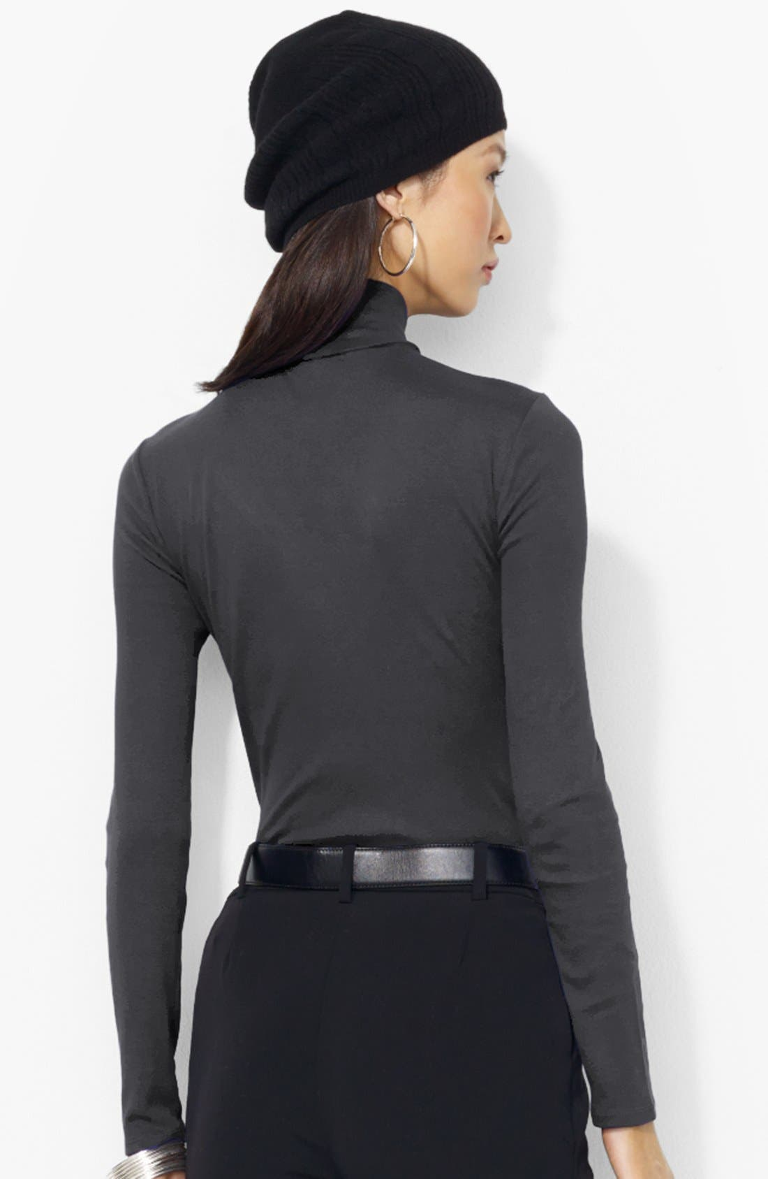 Alternate Image 2  - Lauren Ralph Lauren Cotton Blend Turtleneck